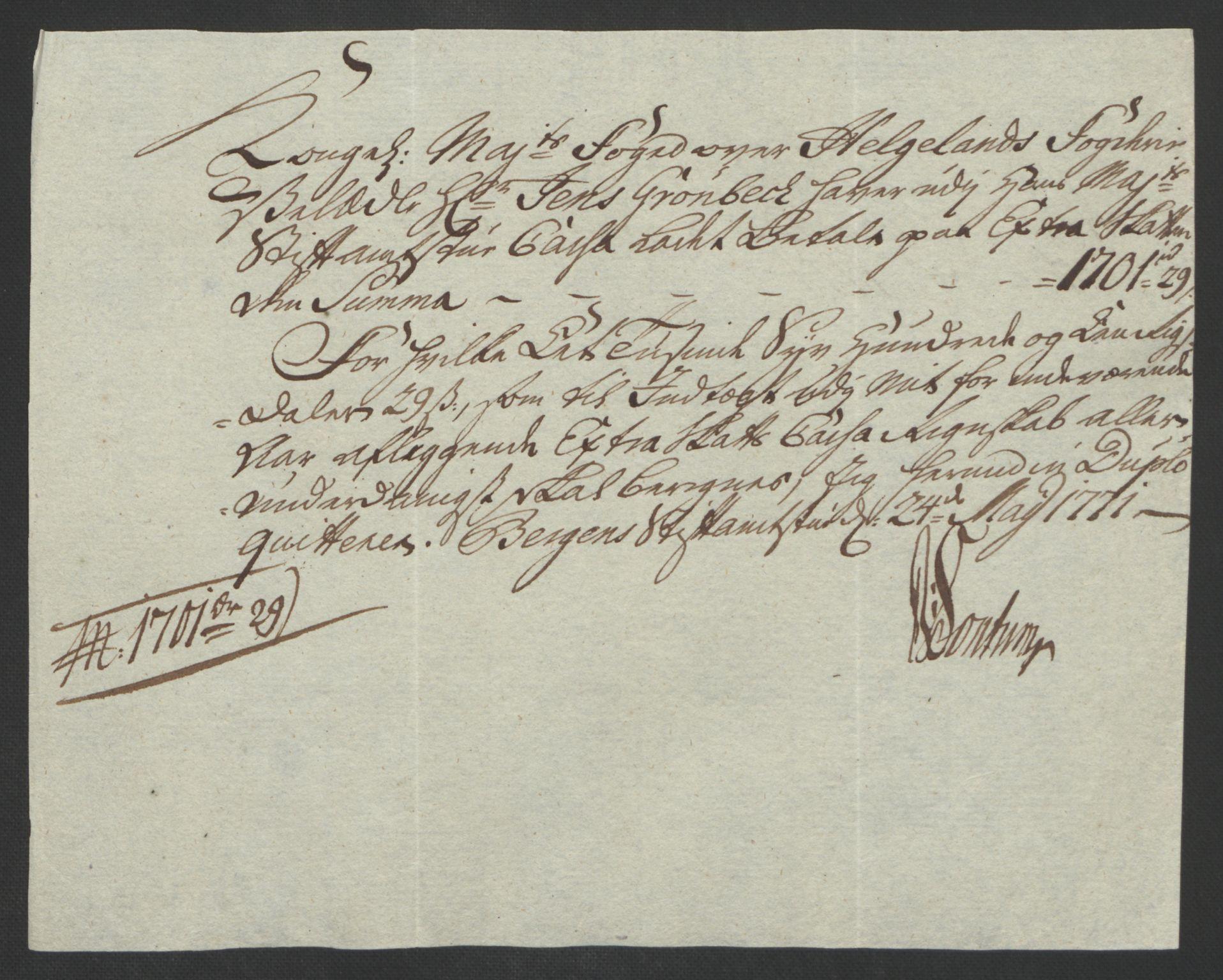 RA, Rentekammeret inntil 1814, Reviderte regnskaper, Fogderegnskap, R65/L4573: Ekstraskatten Helgeland, 1762-1772, s. 347