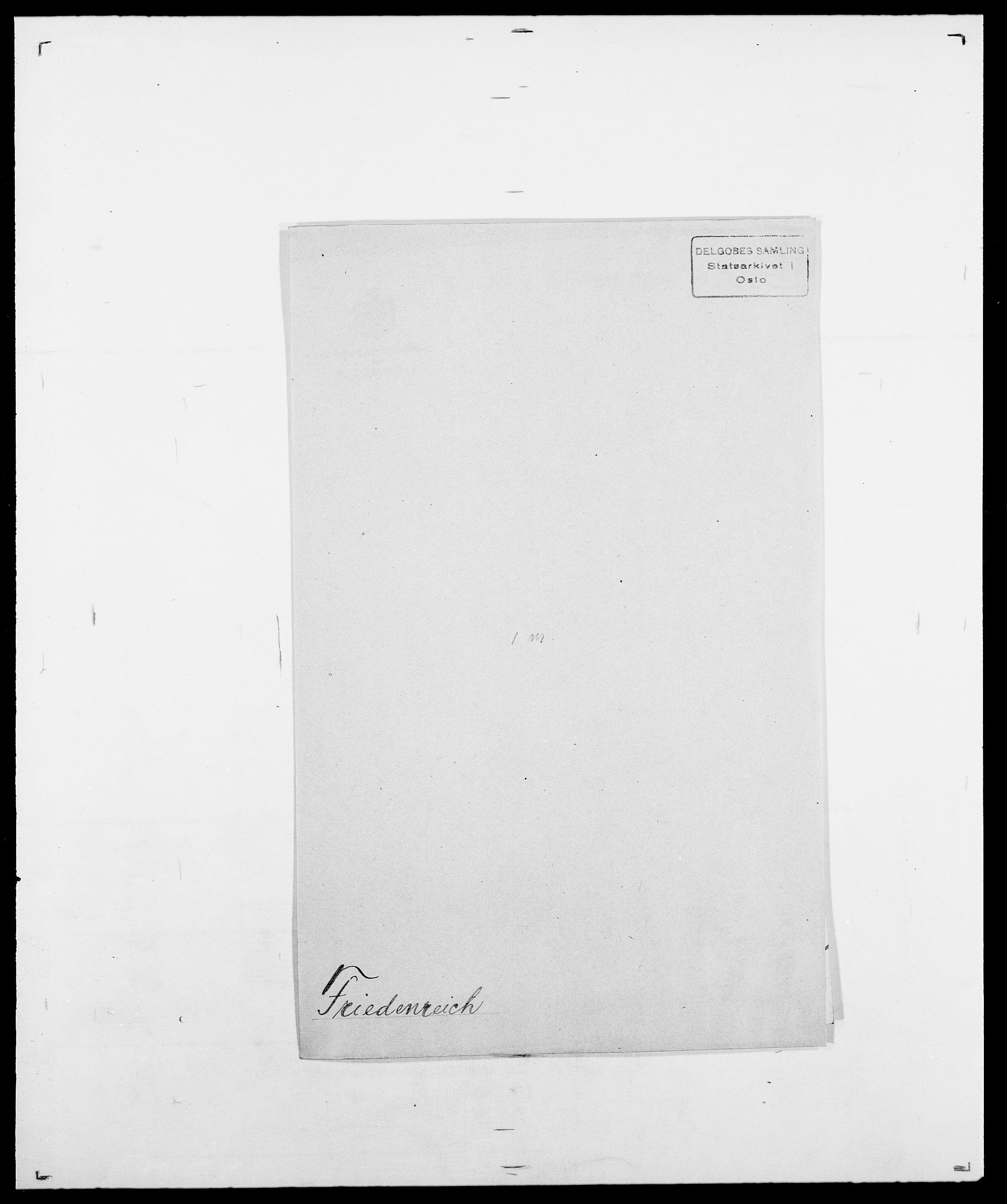 SAO, Delgobe, Charles Antoine - samling, D/Da/L0012: Flor, Floer, Flohr - Fritzner, s. 909