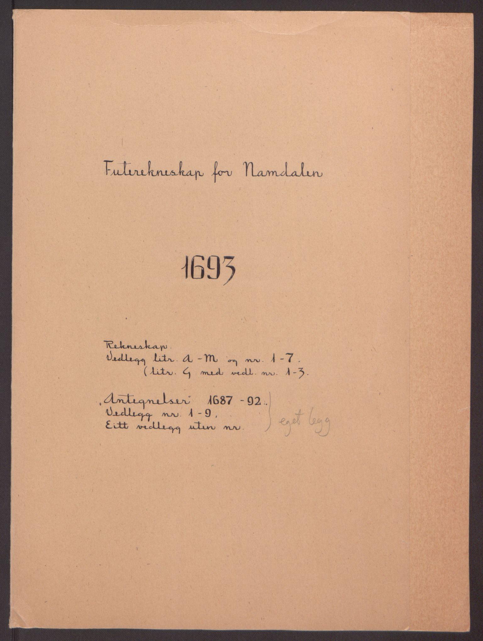 RA, Rentekammeret inntil 1814, Reviderte regnskaper, Fogderegnskap, R64/L4424: Fogderegnskap Namdal, 1692-1695, s. 227