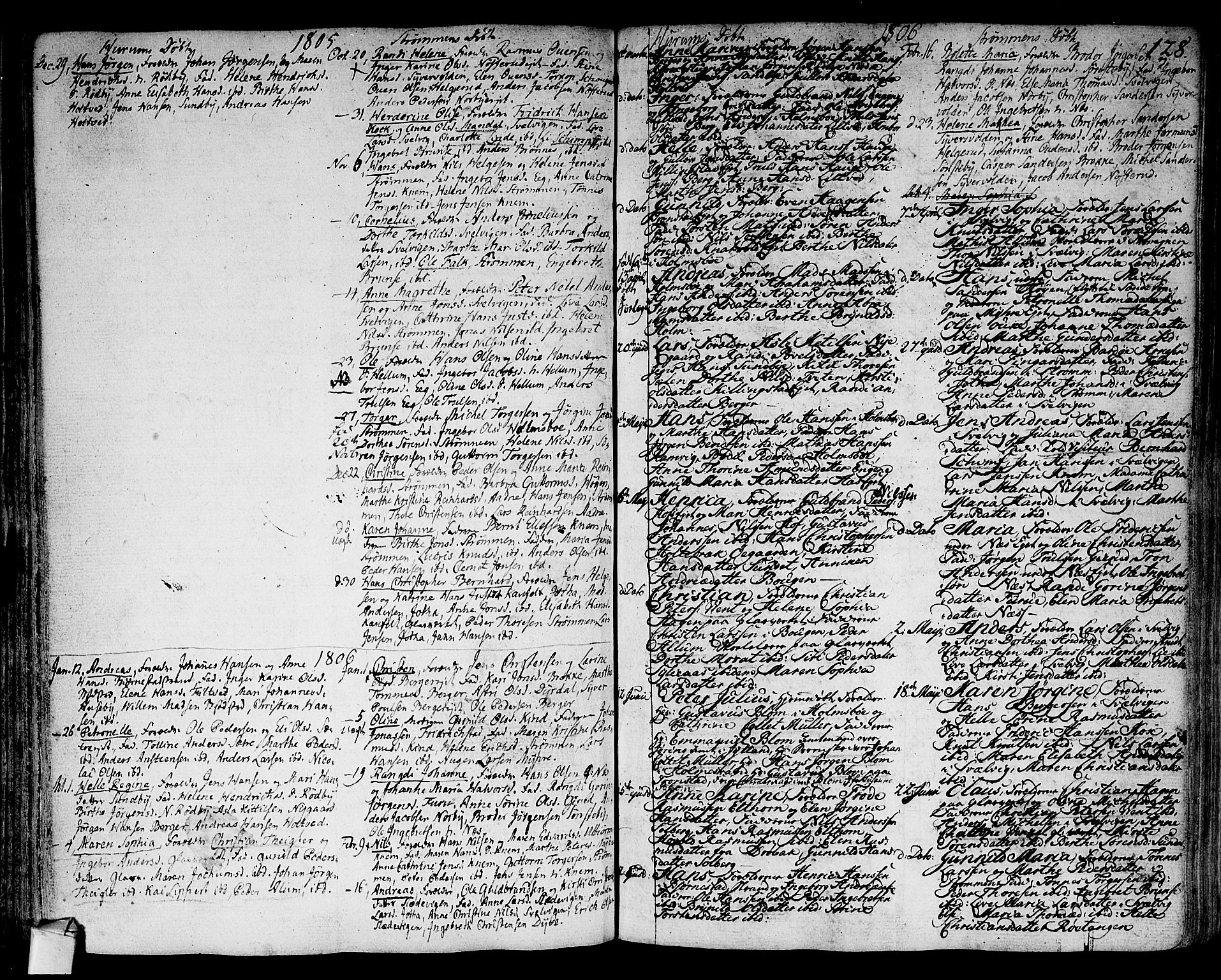 SAKO, Hurum kirkebøker, F/Fa/L0007: Ministerialbok nr. 7, 1771-1810, s. 128