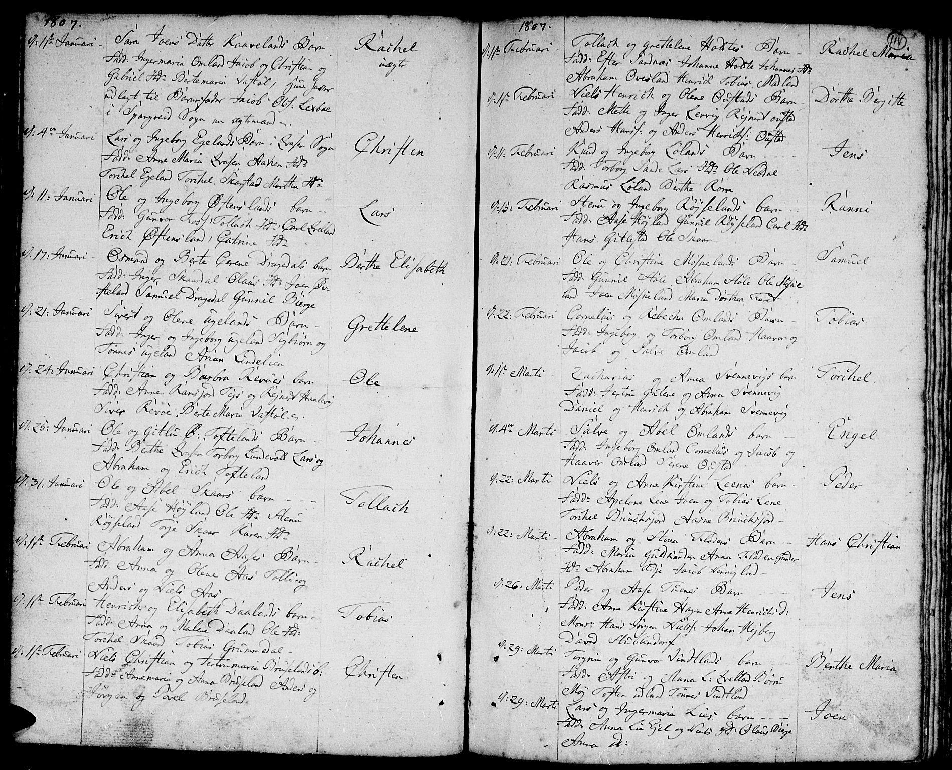SAK, Lyngdal sokneprestkontor, F/Fa/Fac/L0004: Ministerialbok nr. A 4, 1780-1815, s. 114