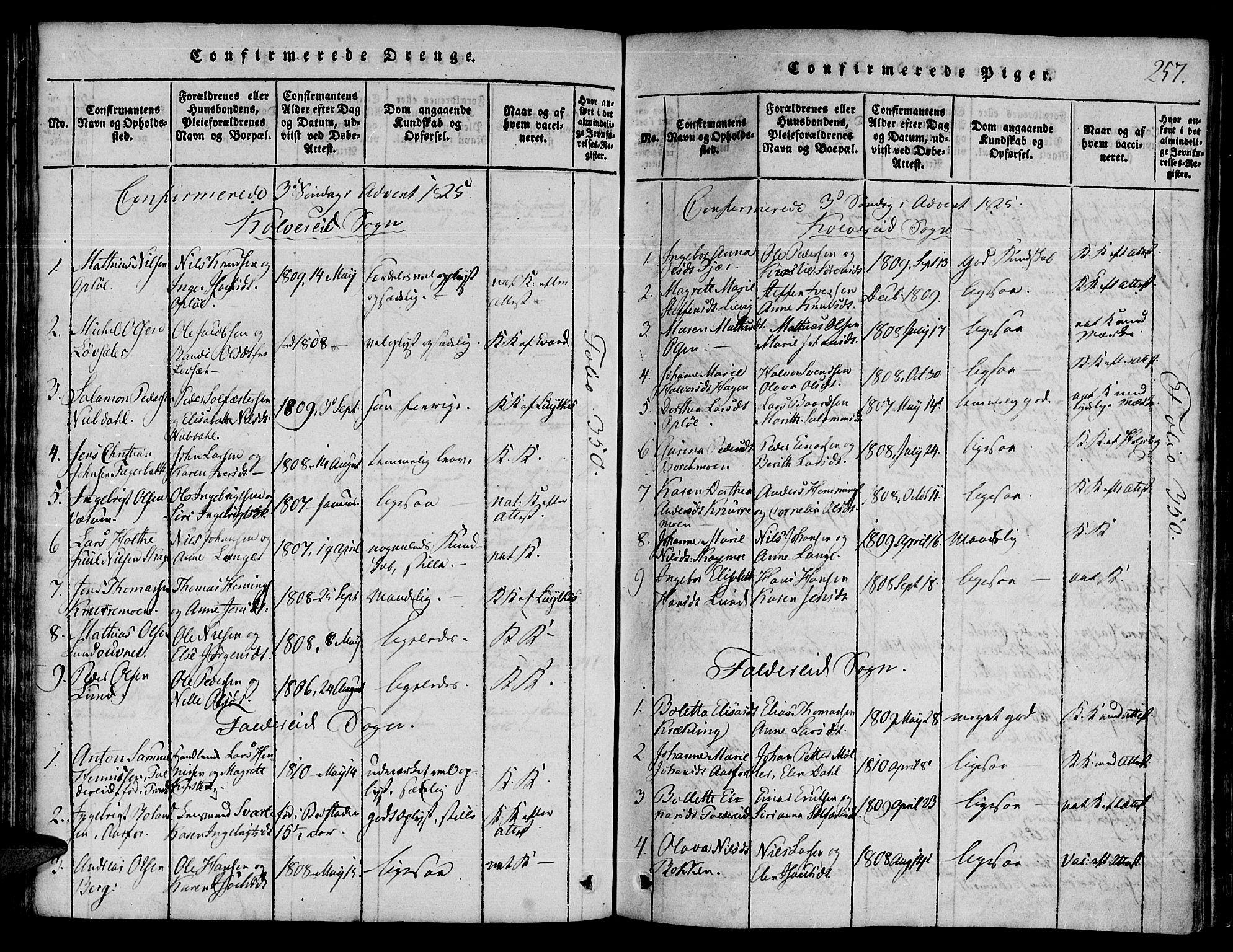 SAT, Ministerialprotokoller, klokkerbøker og fødselsregistre - Nord-Trøndelag, 780/L0636: Ministerialbok nr. 780A03 /1, 1815-1830, s. 257