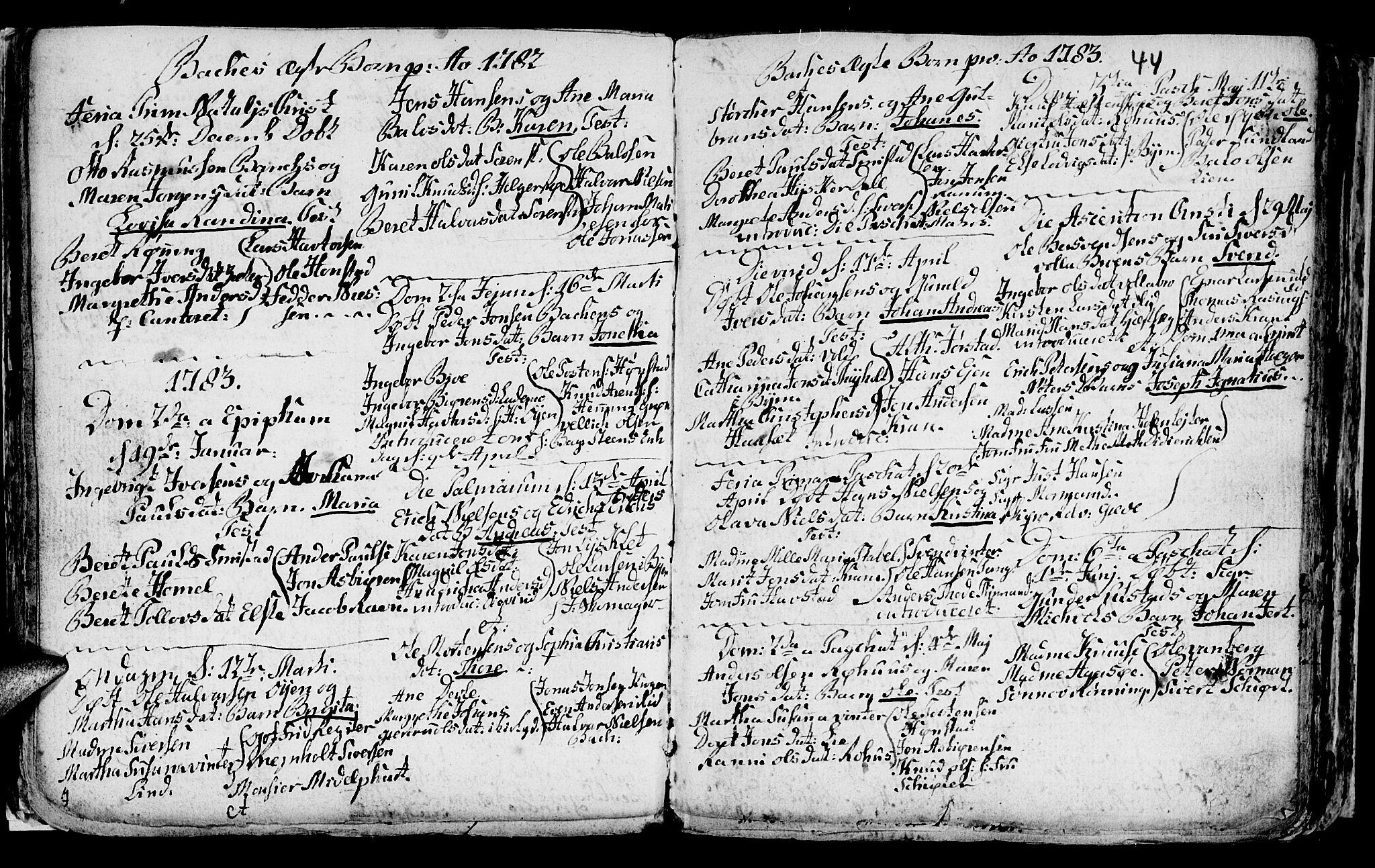 SAT, Ministerialprotokoller, klokkerbøker og fødselsregistre - Sør-Trøndelag, 604/L0218: Klokkerbok nr. 604C01, 1754-1819, s. 44