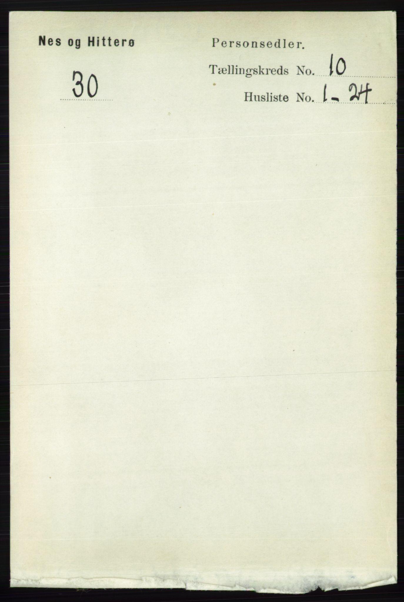 RA, Folketelling 1891 for 1043 Hidra og Nes herred, 1891, s. 4139