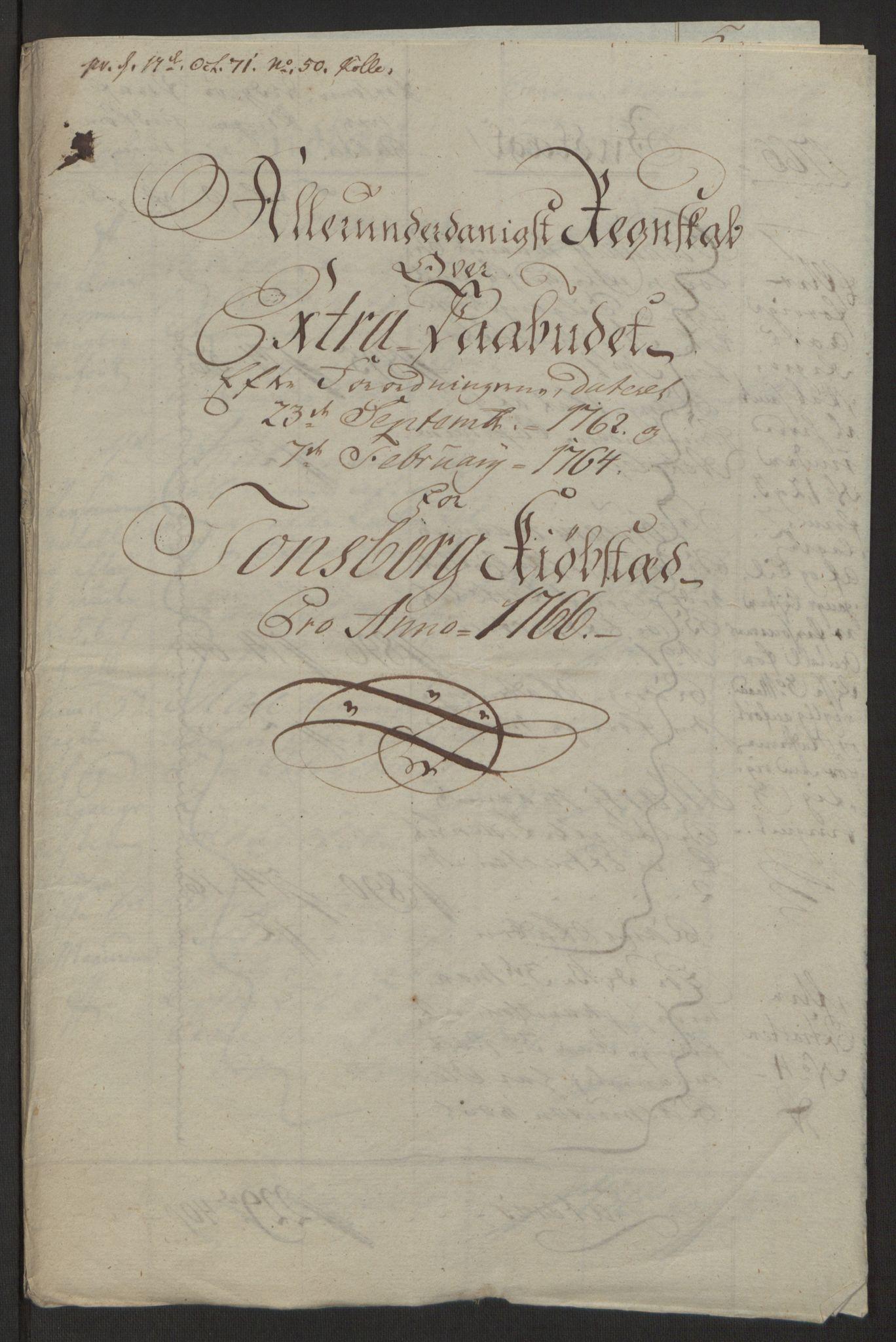 RA, Rentekammeret inntil 1814, Reviderte regnskaper, Byregnskaper, R/Rh/L0162: [H4] Kontribusjonsregnskap, 1762-1772, s. 245