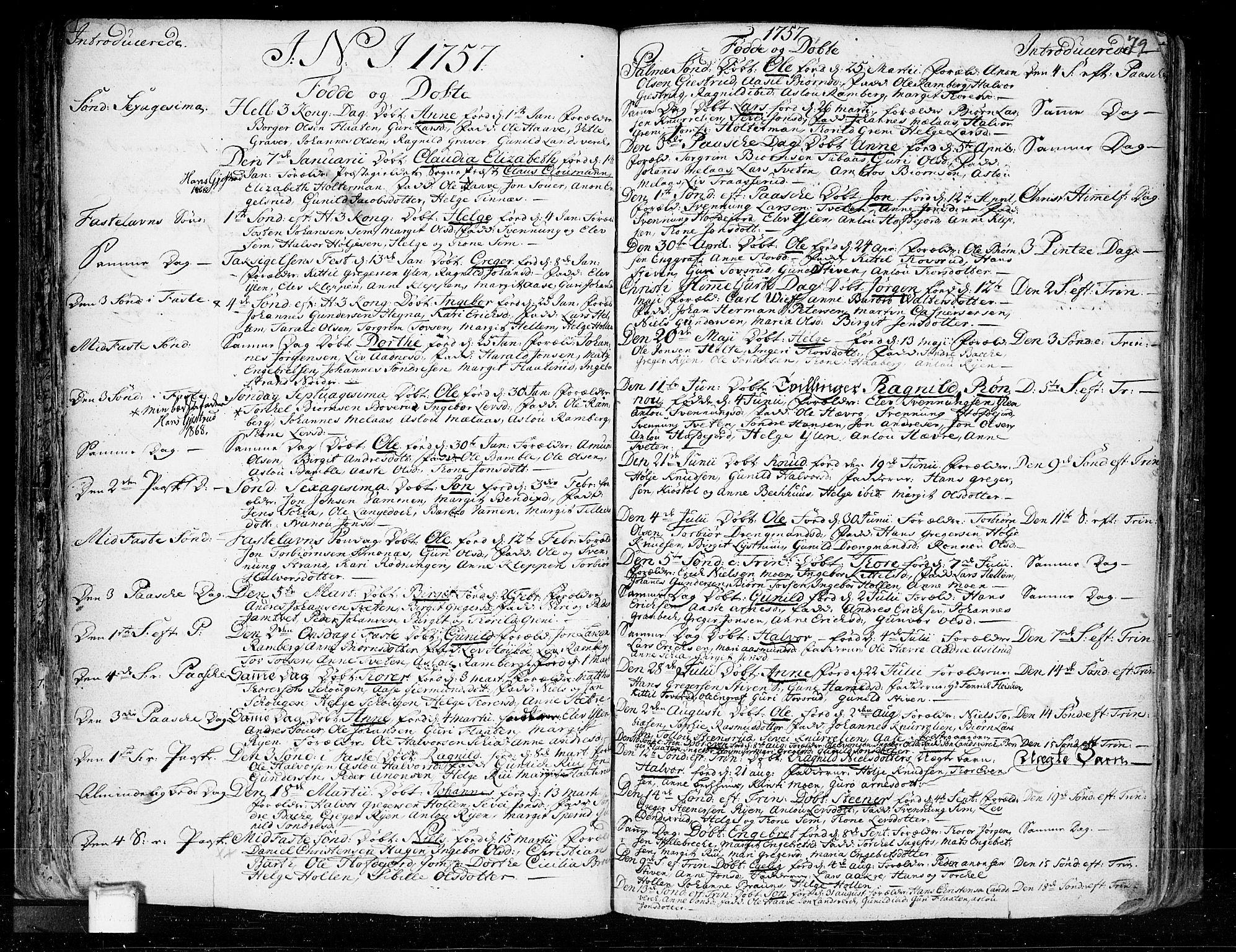SAKO, Heddal kirkebøker, F/Fa/L0003: Ministerialbok nr. I 3, 1723-1783, s. 79