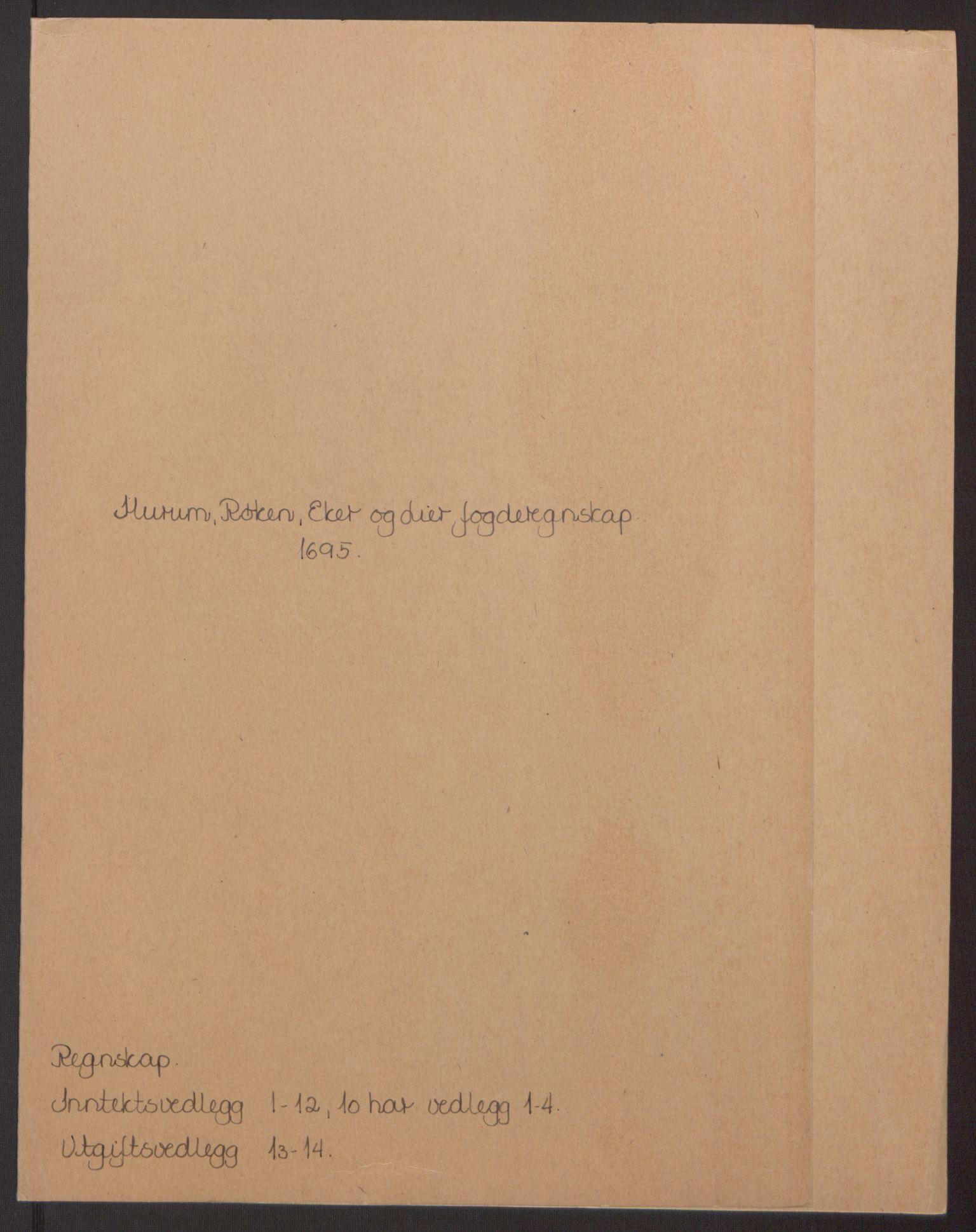 RA, Rentekammeret inntil 1814, Reviderte regnskaper, Fogderegnskap, R30/L1694: Fogderegnskap Hurum, Røyken, Eiker og Lier, 1694-1696, s. 150