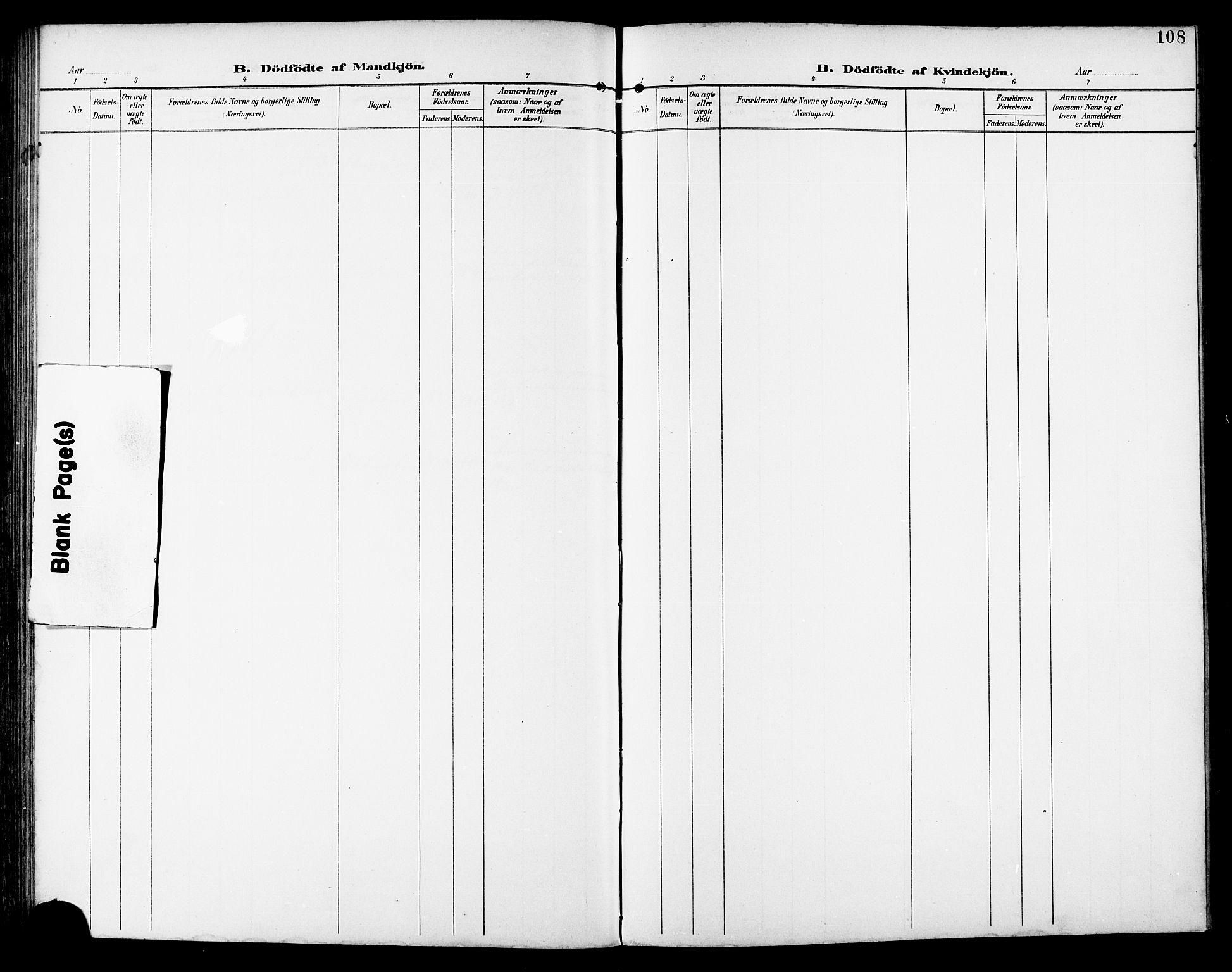 SAT, Ministerialprotokoller, klokkerbøker og fødselsregistre - Sør-Trøndelag, 672/L0864: Klokkerbok nr. 672C03, 1902-1914, s. 108
