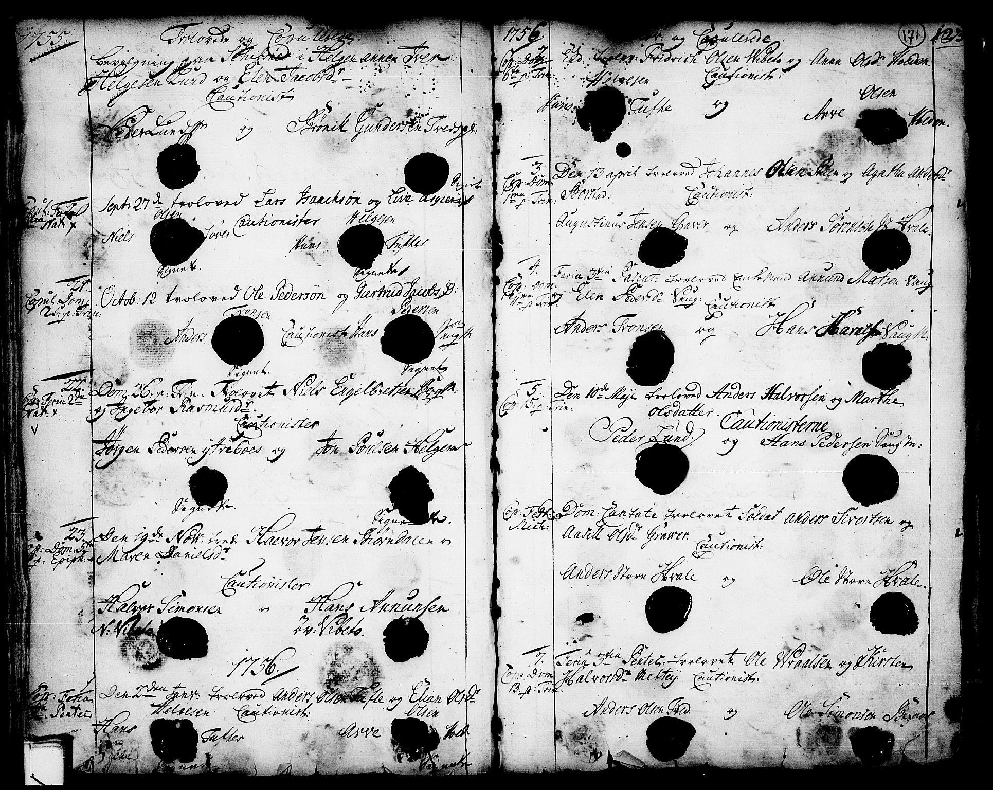 SAKO, Holla kirkebøker, F/Fa/L0001: Ministerialbok nr. 1, 1717-1779, s. 171