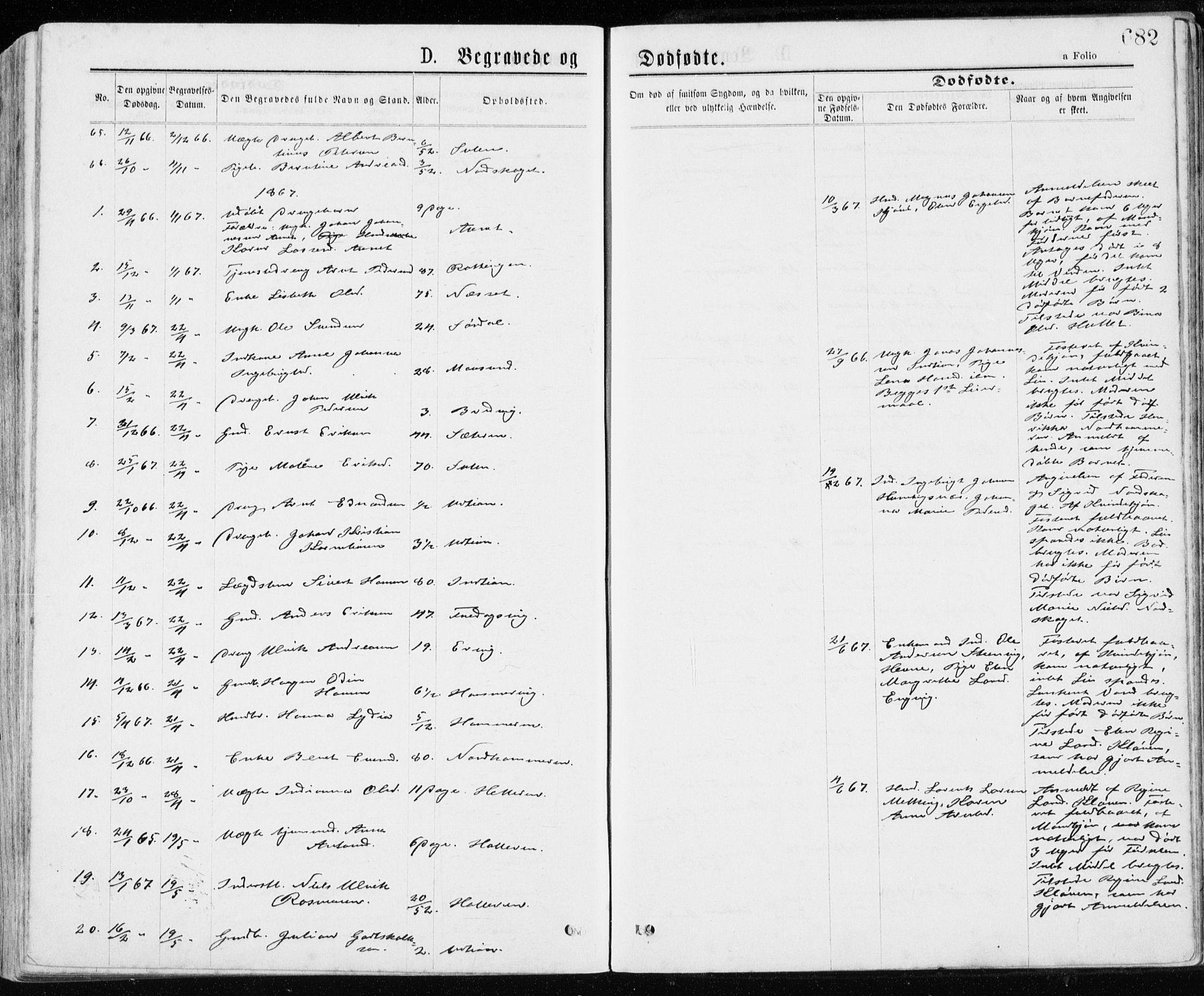 SAT, Ministerialprotokoller, klokkerbøker og fødselsregistre - Sør-Trøndelag, 640/L0576: Ministerialbok nr. 640A01, 1846-1876, s. 682