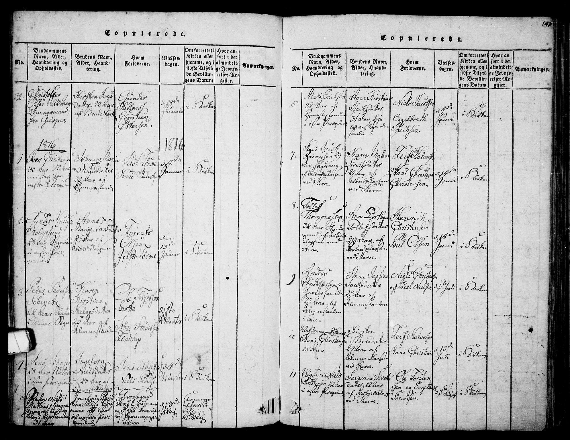 SAKO, Porsgrunn kirkebøker , F/Fa/L0004: Ministerialbok nr. 4, 1814-1828, s. 193
