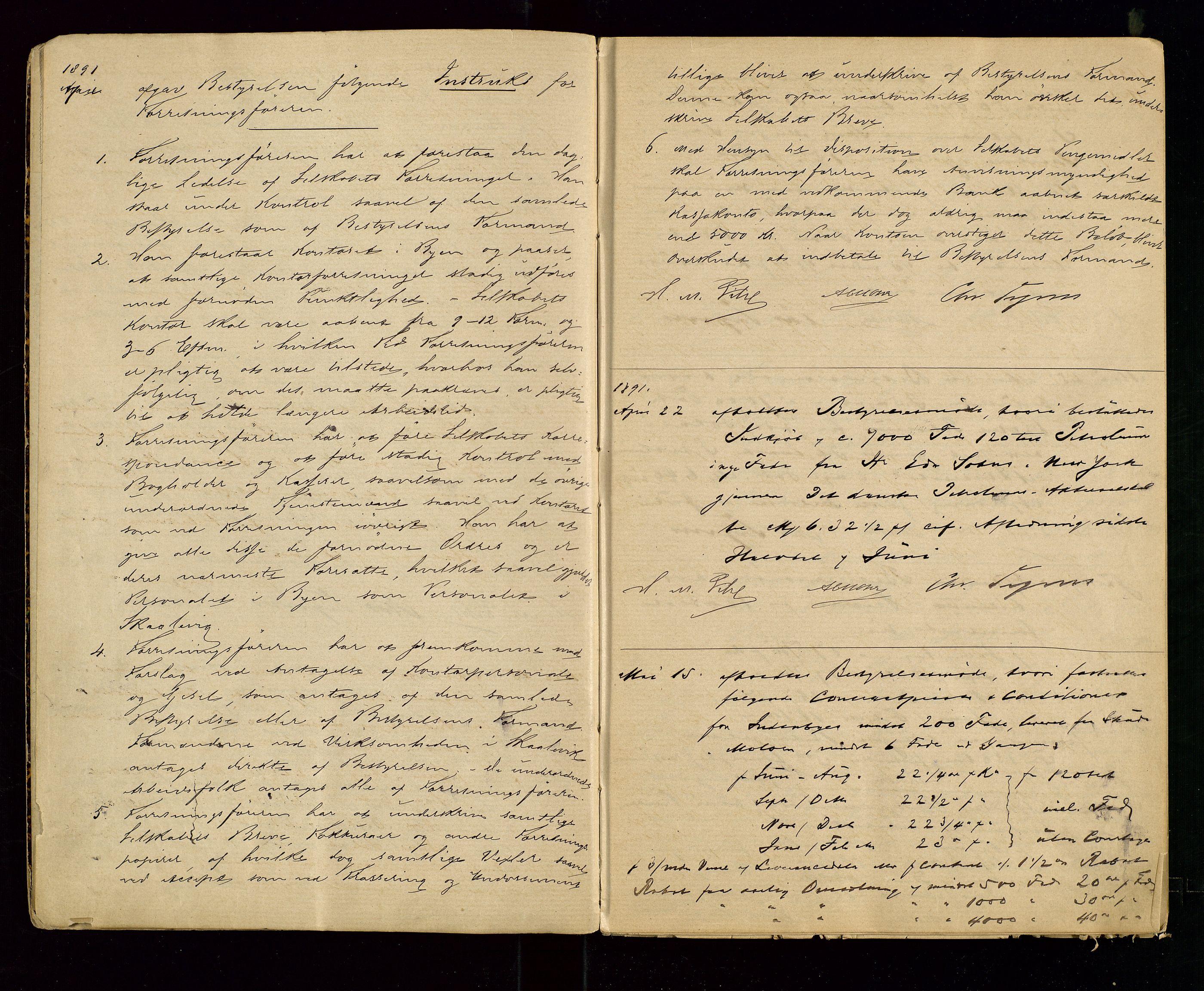 SAST, PA 1533 - A/S Vestlandske Petroleumscompani, A/Aa/L0001: Generalforsamlinger og styreprotokoller, 1890-1907, s. 3