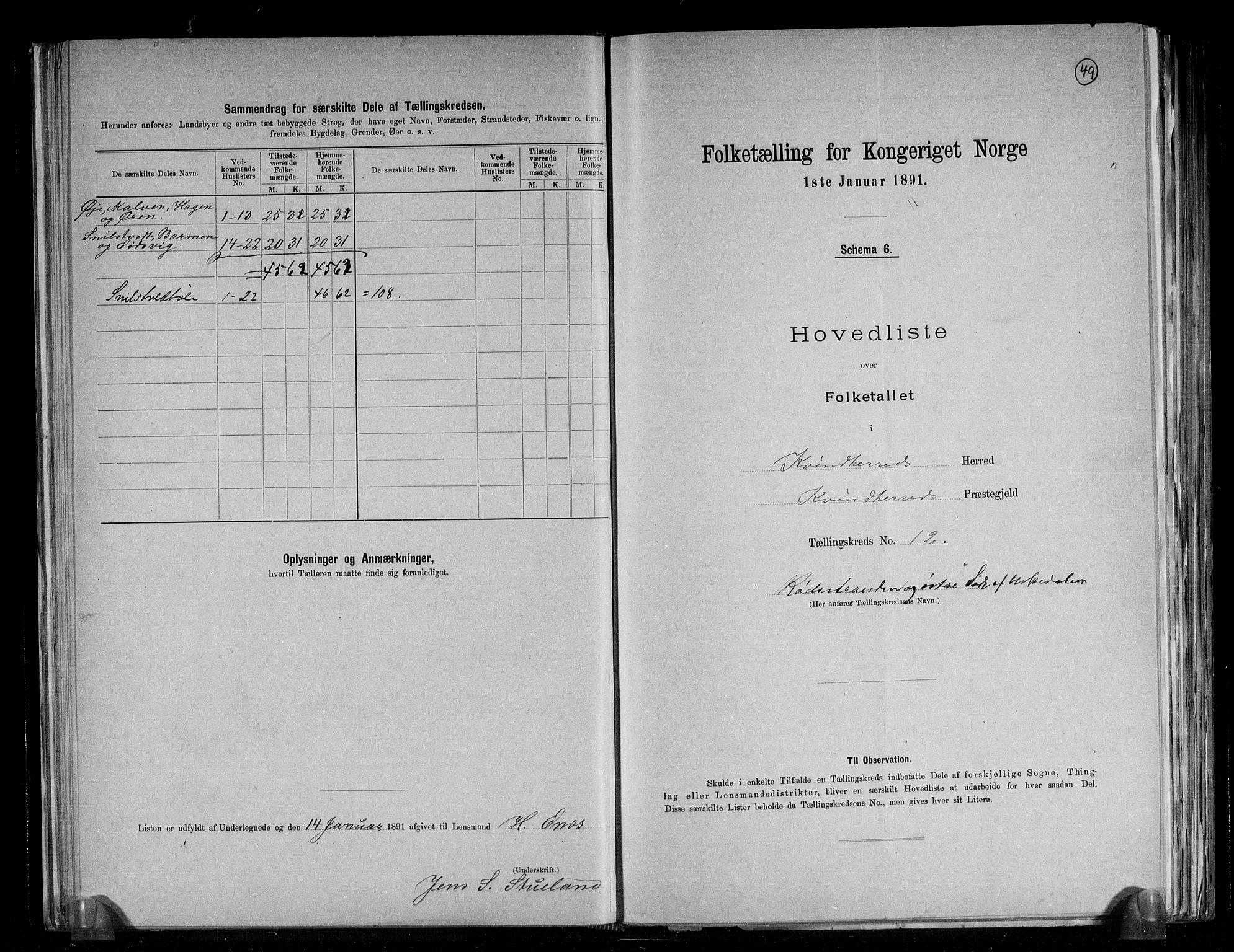 RA, Folketelling 1891 for 1224 Kvinnherad herred, 1891, s. 29