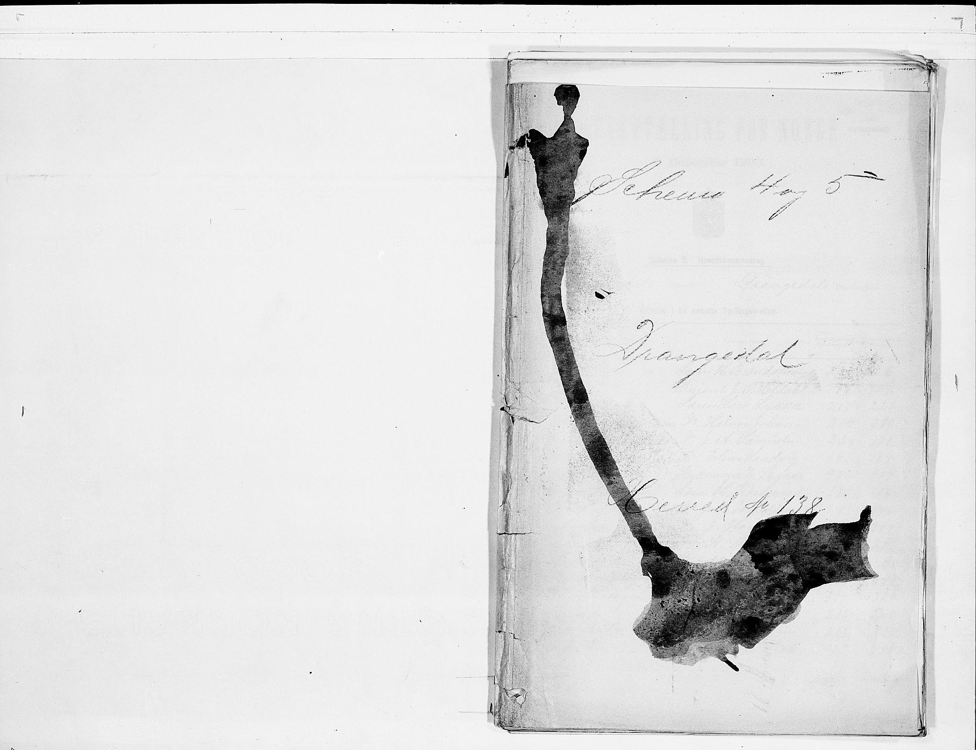 SAKO, Folketelling 1900 for 0817 Drangedal herred, 1900, s. 1