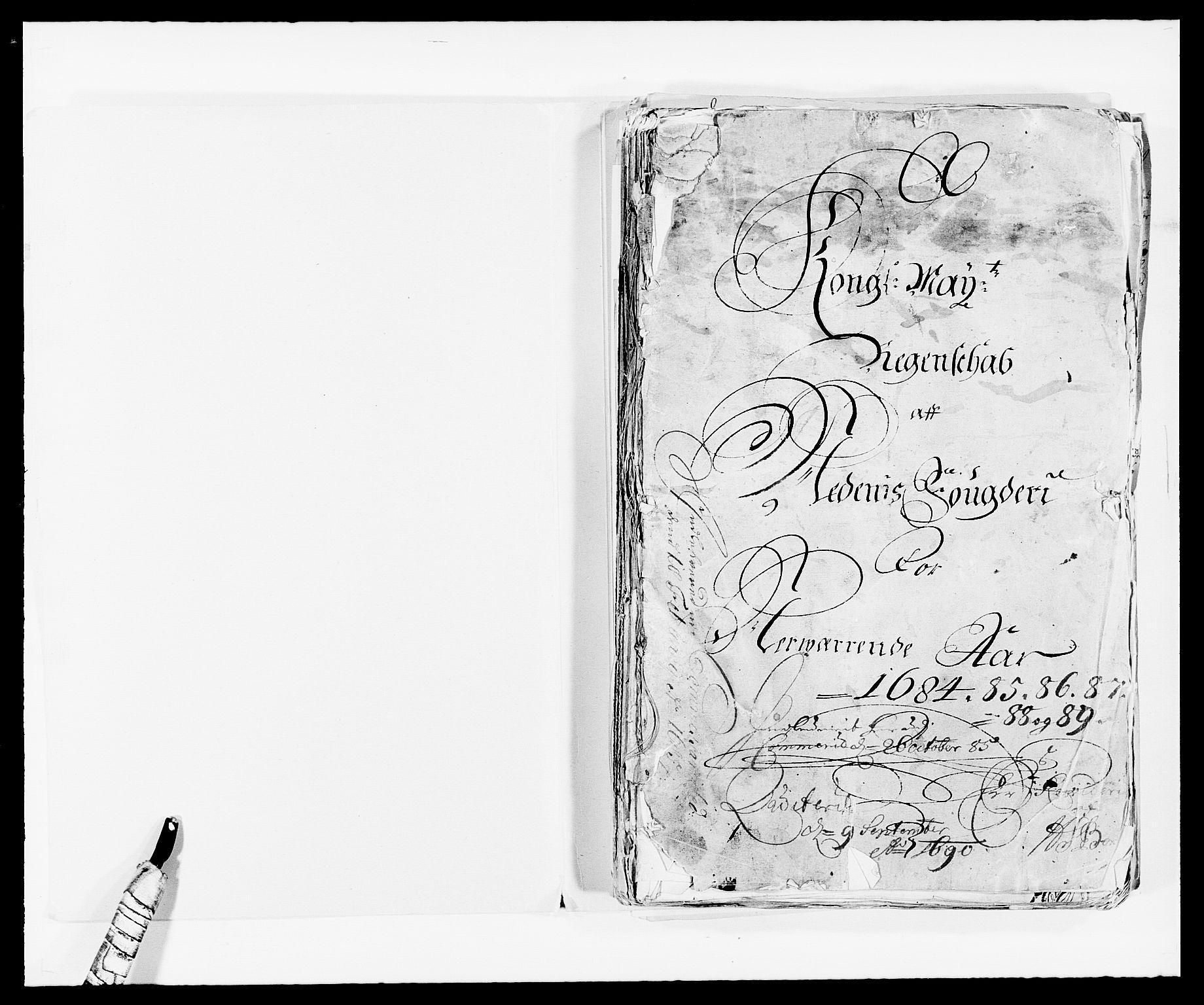 RA, Rentekammeret inntil 1814, Reviderte regnskaper, Fogderegnskap, R39/L2307: Fogderegnskap Nedenes, 1684-1689, s. 2