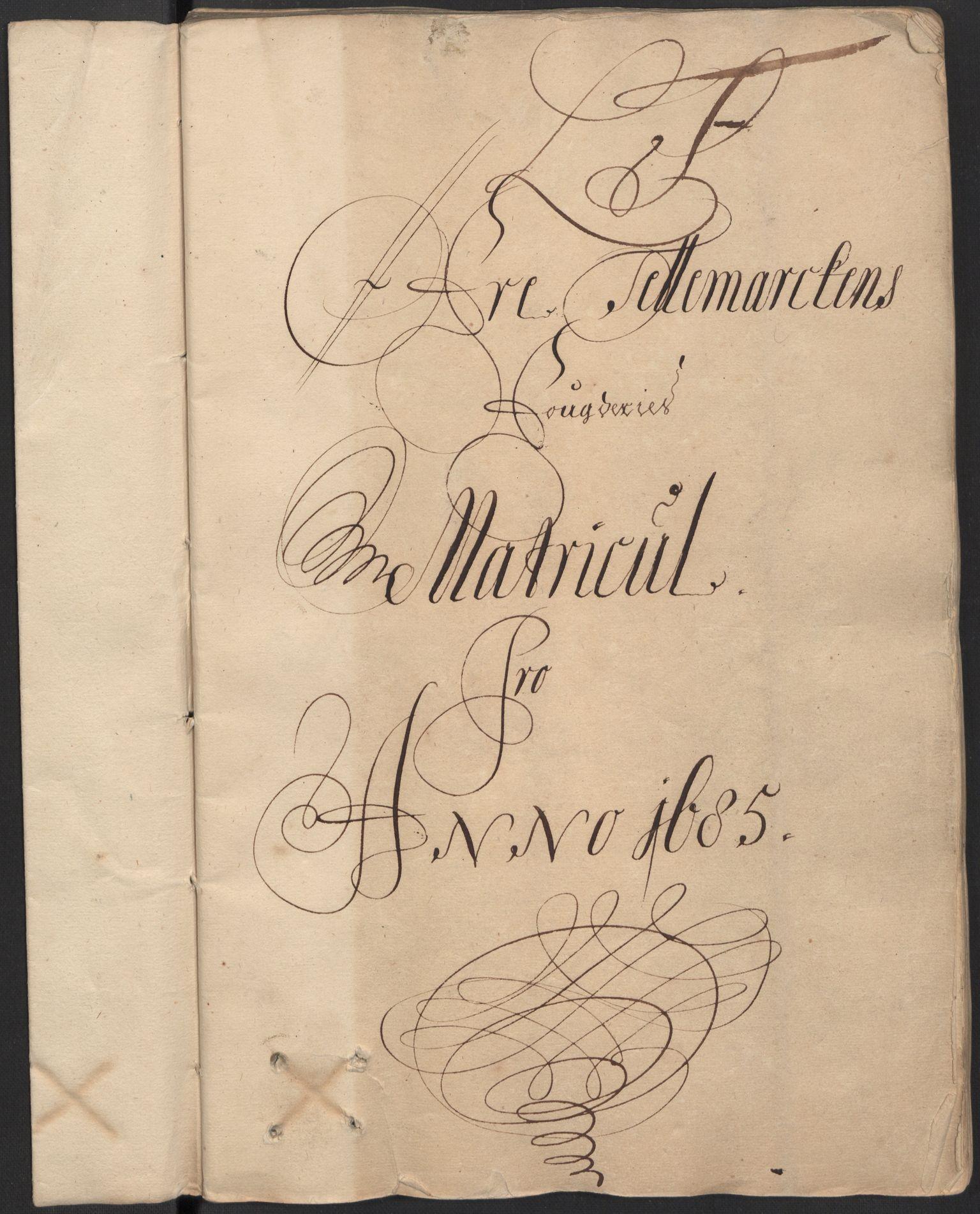 RA, Rentekammeret inntil 1814, Reviderte regnskaper, Fogderegnskap, R35/L2082: Fogderegnskap Øvre og Nedre Telemark, 1685, s. 91
