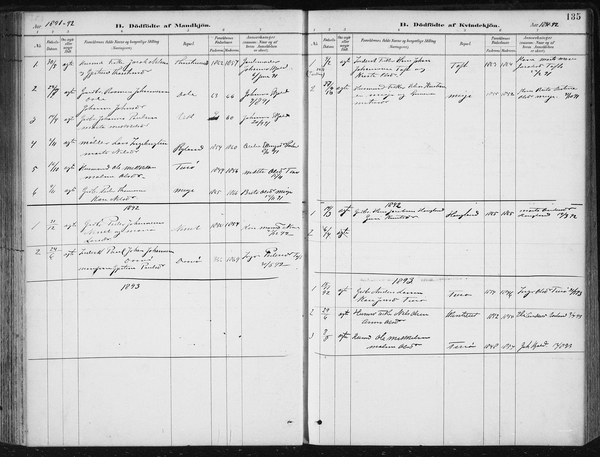 SAB, Herdla Sokneprestembete, H/Haa: Ministerialbok nr. A 4, 1891-1905, s. 135