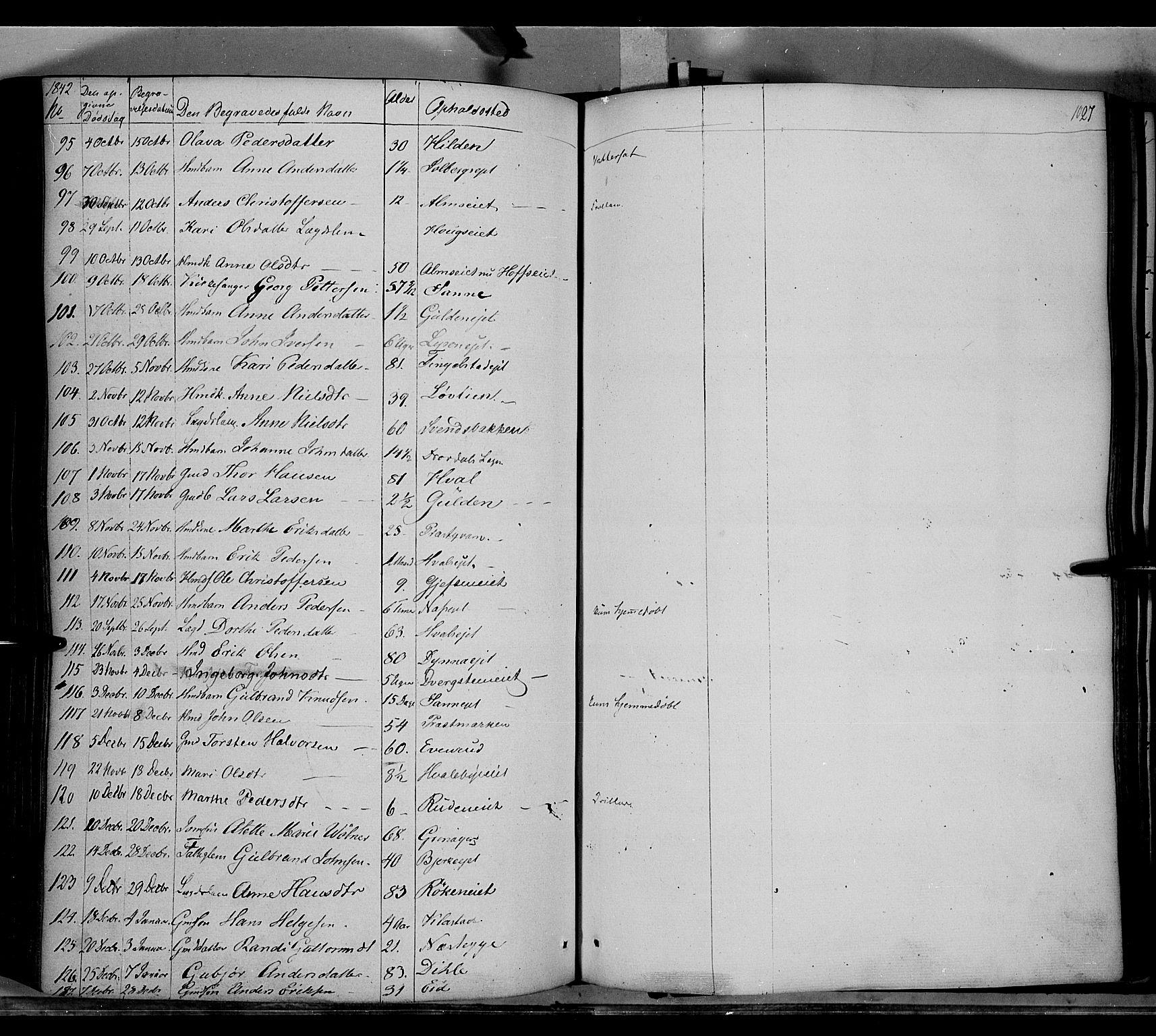 SAH, Gran prestekontor, Ministerialbok nr. 11, 1842-1856, s. 1026-1027