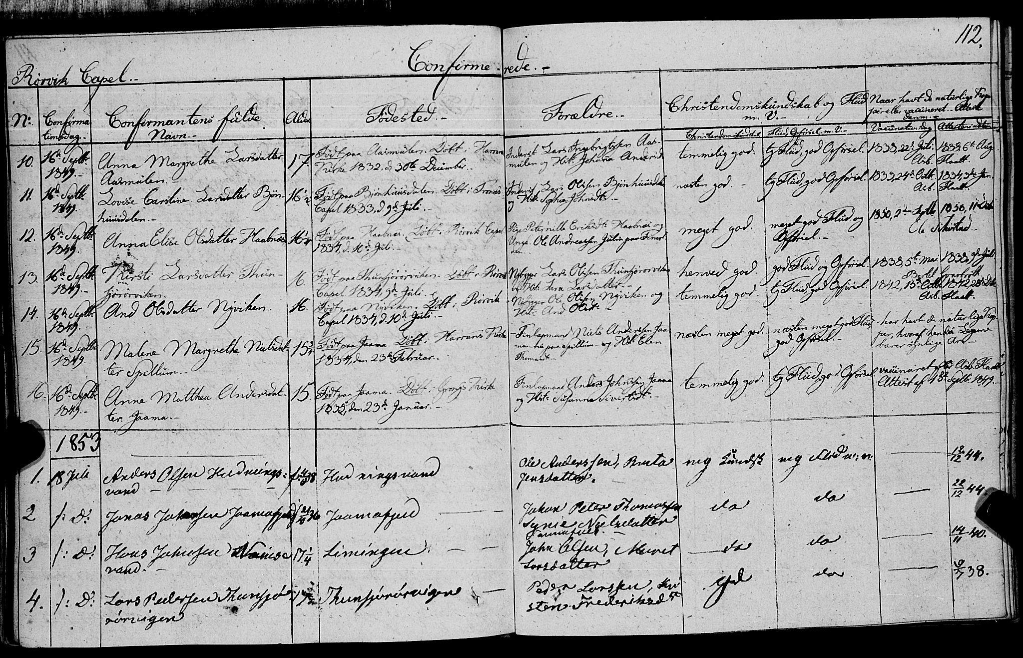 SAT, Ministerialprotokoller, klokkerbøker og fødselsregistre - Nord-Trøndelag, 762/L0538: Ministerialbok nr. 762A02 /1, 1833-1879, s. 112