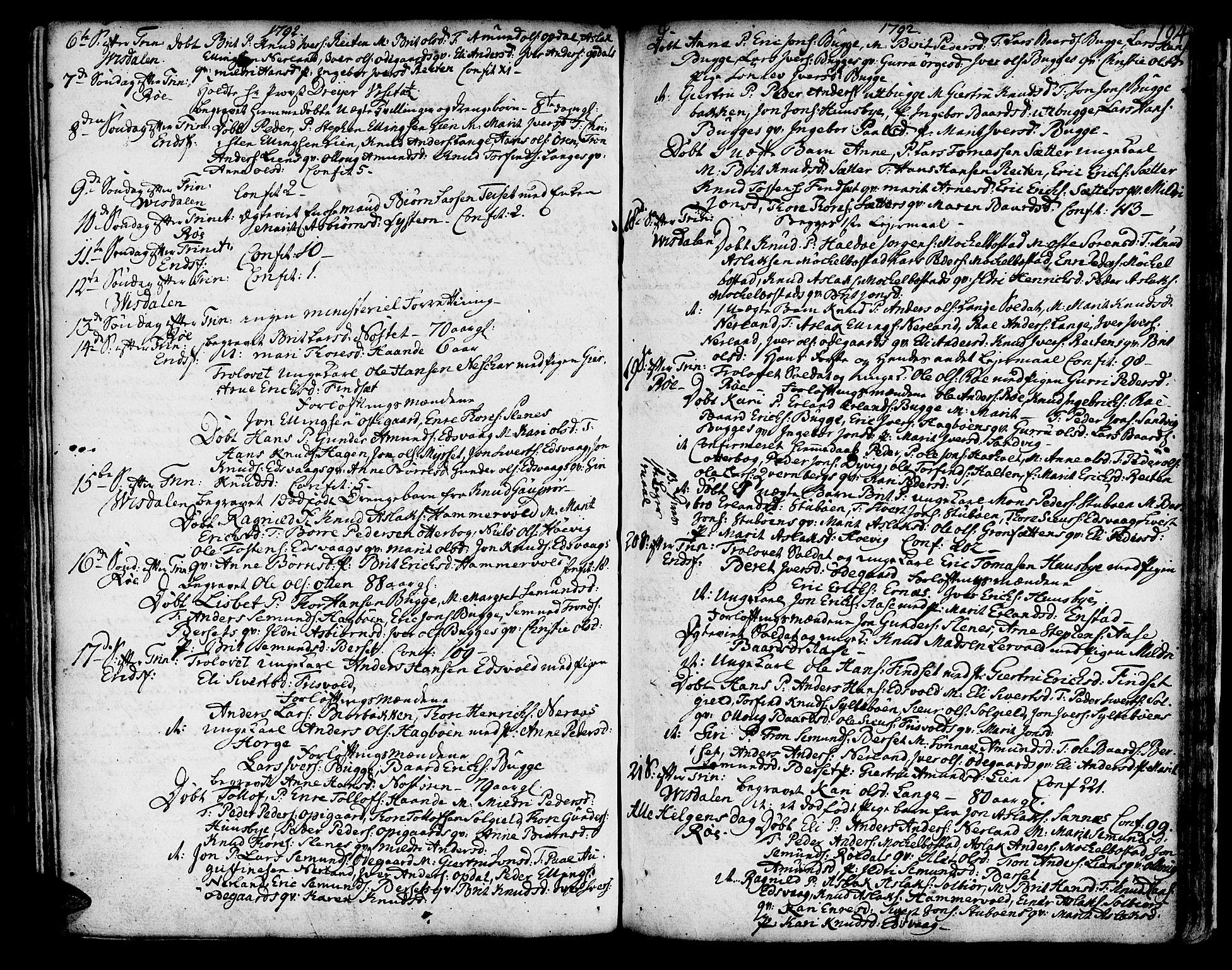 SAT, Ministerialprotokoller, klokkerbøker og fødselsregistre - Møre og Romsdal, 551/L0621: Ministerialbok nr. 551A01, 1757-1803, s. 194