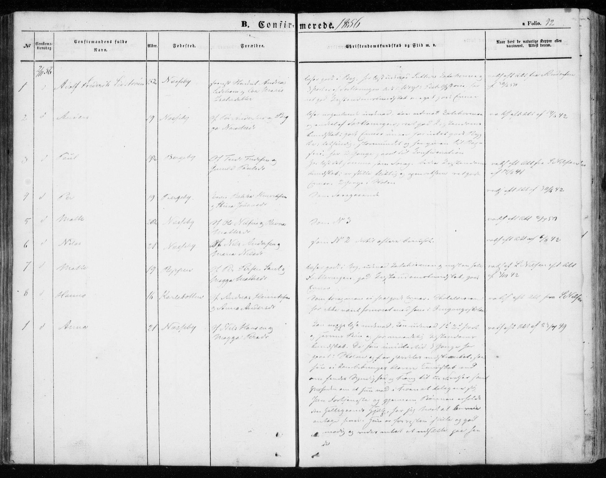 SATØ, Nesseby sokneprestkontor, H/Ha/L0002kirke: Ministerialbok nr. 2, 1856-1864, s. 92