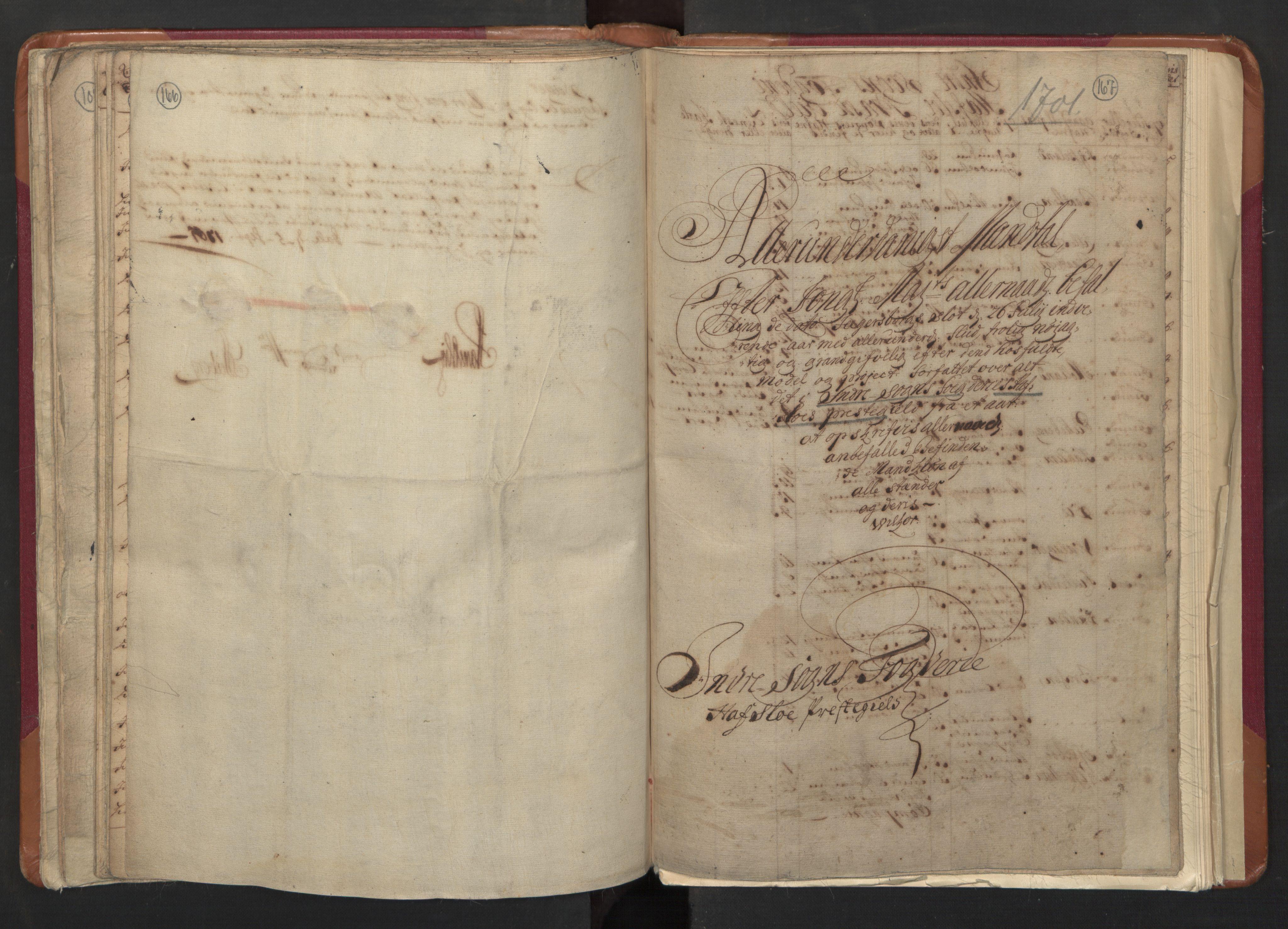 RA, Manntallet 1701, nr. 8: Ytre Sogn fogderi og Indre Sogn fogderi, 1701, s. 166-167