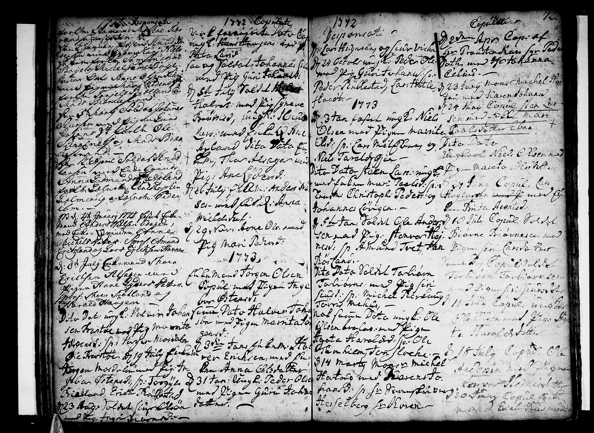 SAB, Skånevik Sokneprestembete, H/Haa: Ministerialbok nr. A 1, 1745-1789, s. 72
