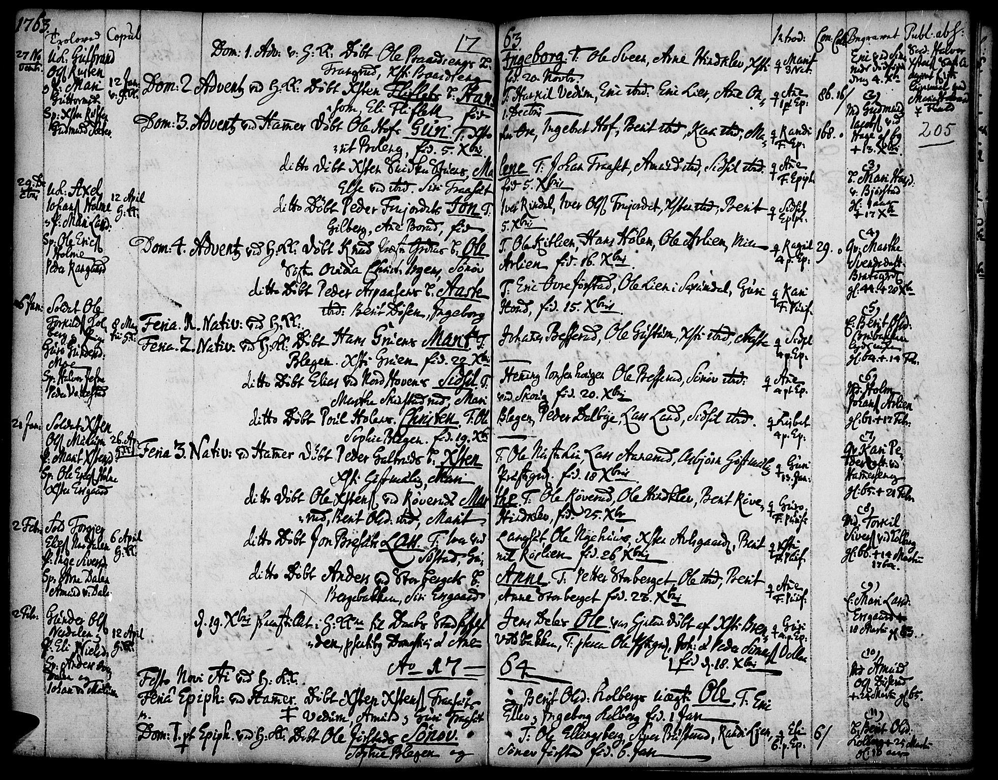SAH, Fåberg prestekontor, Ministerialbok nr. 1, 1727-1775, s. 205