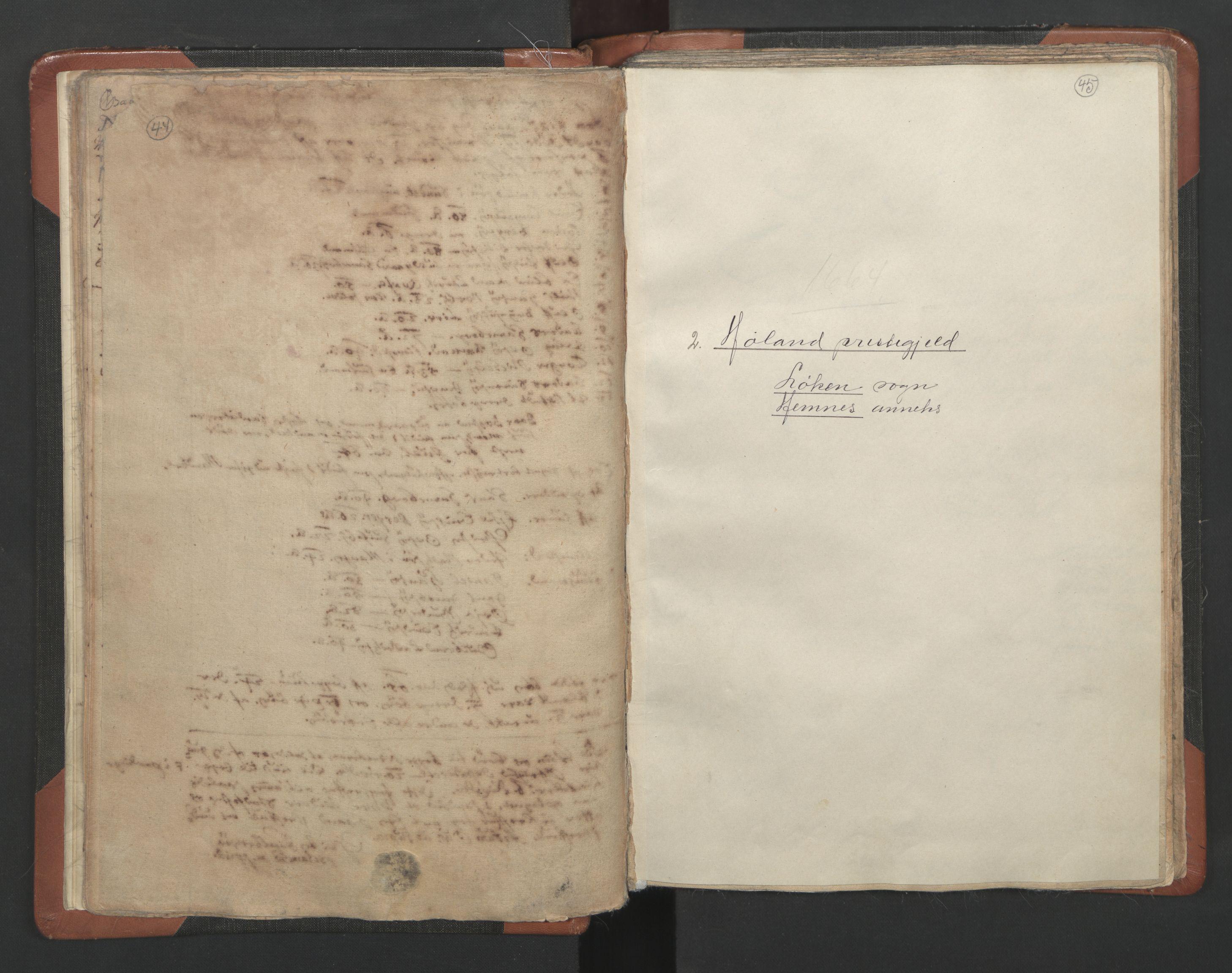 RA, Sogneprestenes manntall 1664-1666, nr. 3: Nedre Romerike prosti, 1664-1666, s. 44-45