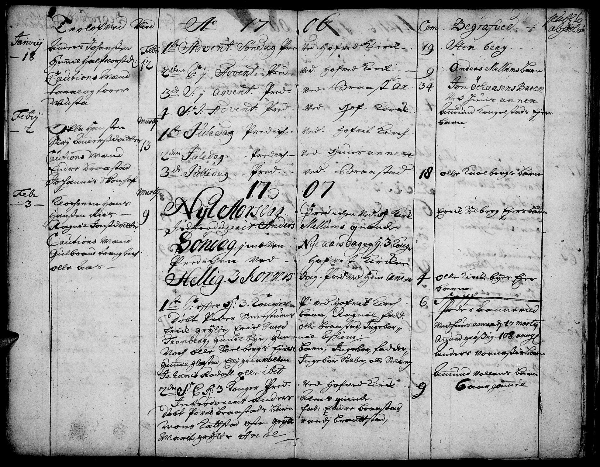SAH, Vardal prestekontor, H/Ha/Haa/L0001: Ministerialbok nr. 1, 1706-1748, s. 6