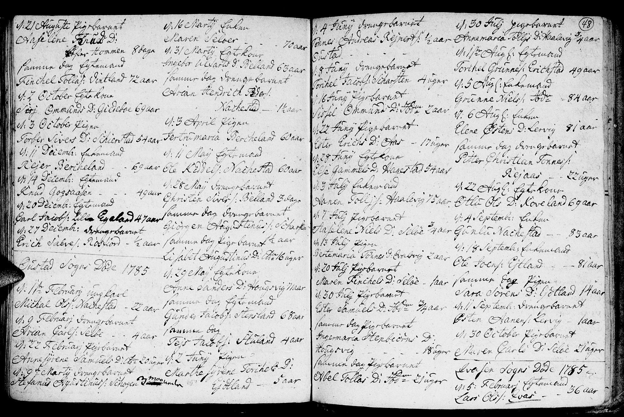 SAK, Lyngdal sokneprestkontor, F/Fa/Fac/L0003: Ministerialbok nr. A 3, 1750-1803, s. 48