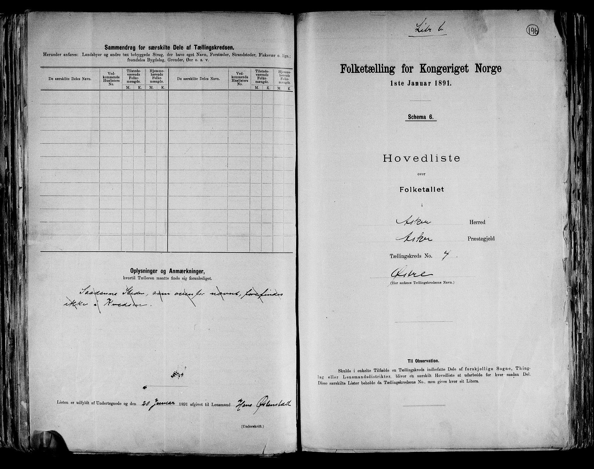 RA, Folketelling 1891 for 0220 Asker herred, 1891, s. 17