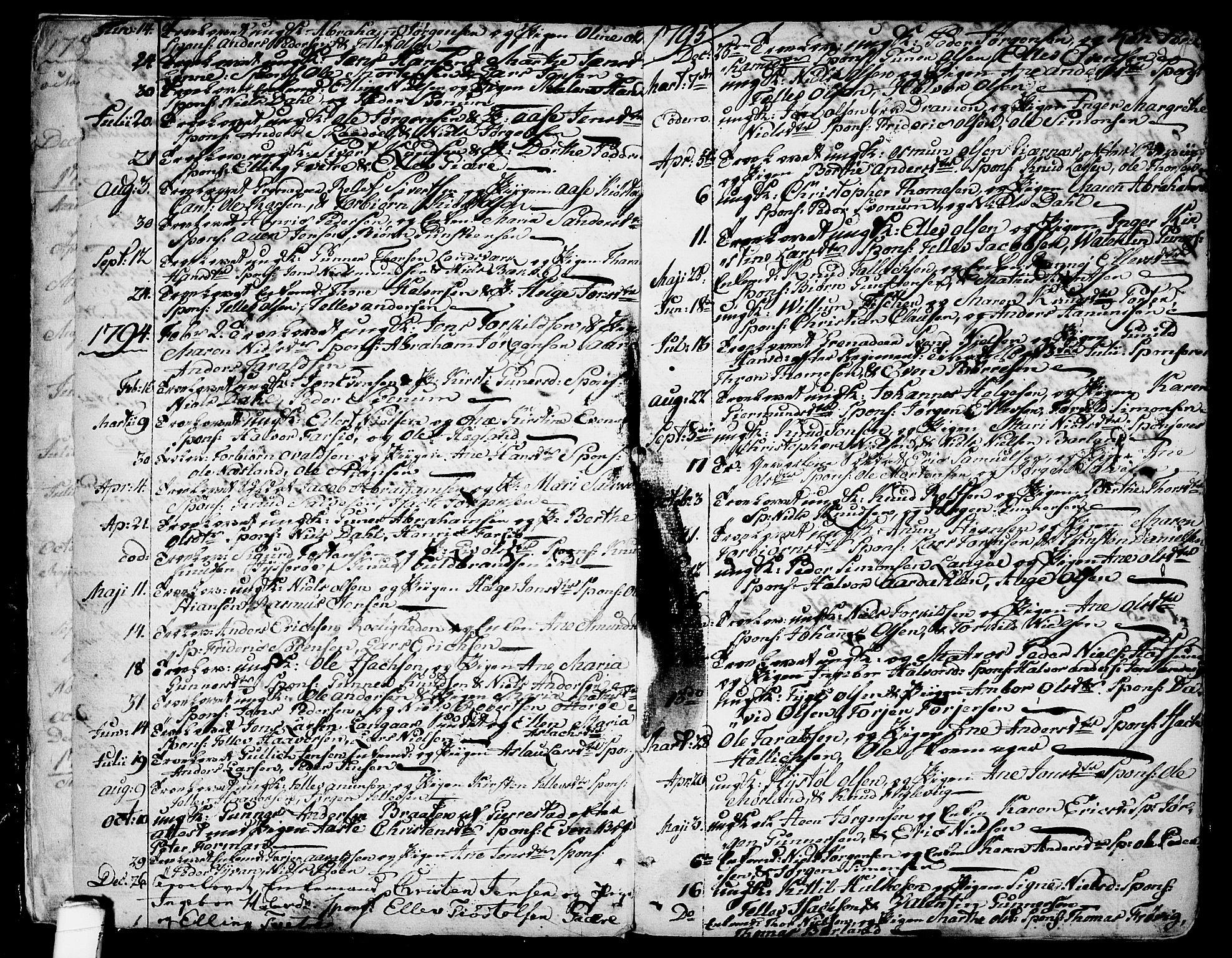 SAKO, Sannidal kirkebøker, F/Fa/L0002: Ministerialbok nr. 2, 1767-1802, s. 8