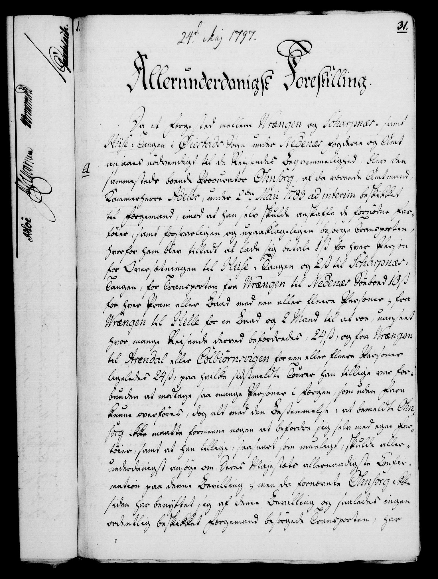 RA, Rentekammeret, Kammerkanselliet, G/Gf/Gfa/L0079: Norsk relasjons- og resolusjonsprotokoll (merket RK 52.79), 1797, s. 176