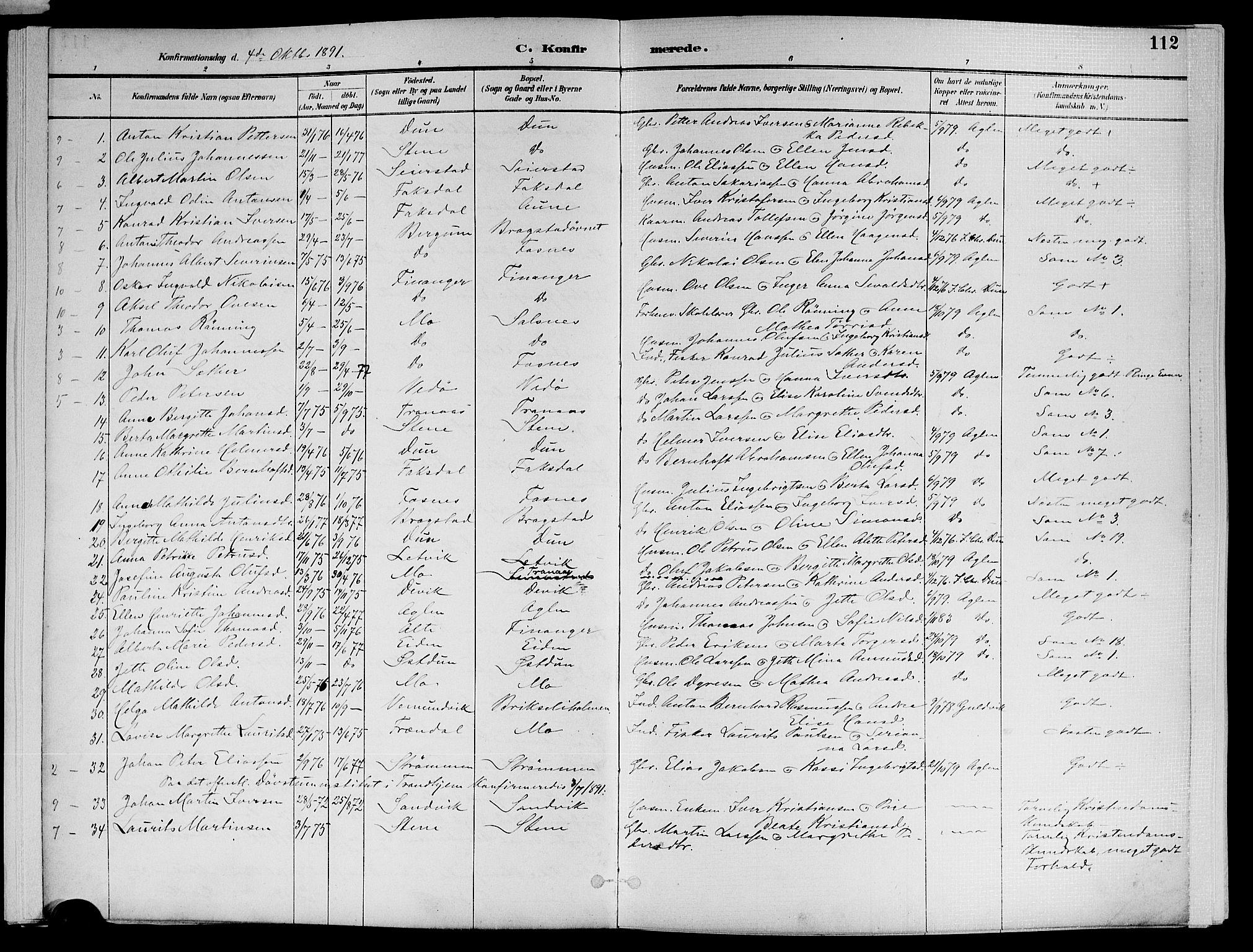SAT, Ministerialprotokoller, klokkerbøker og fødselsregistre - Nord-Trøndelag, 773/L0617: Ministerialbok nr. 773A08, 1887-1910, s. 112