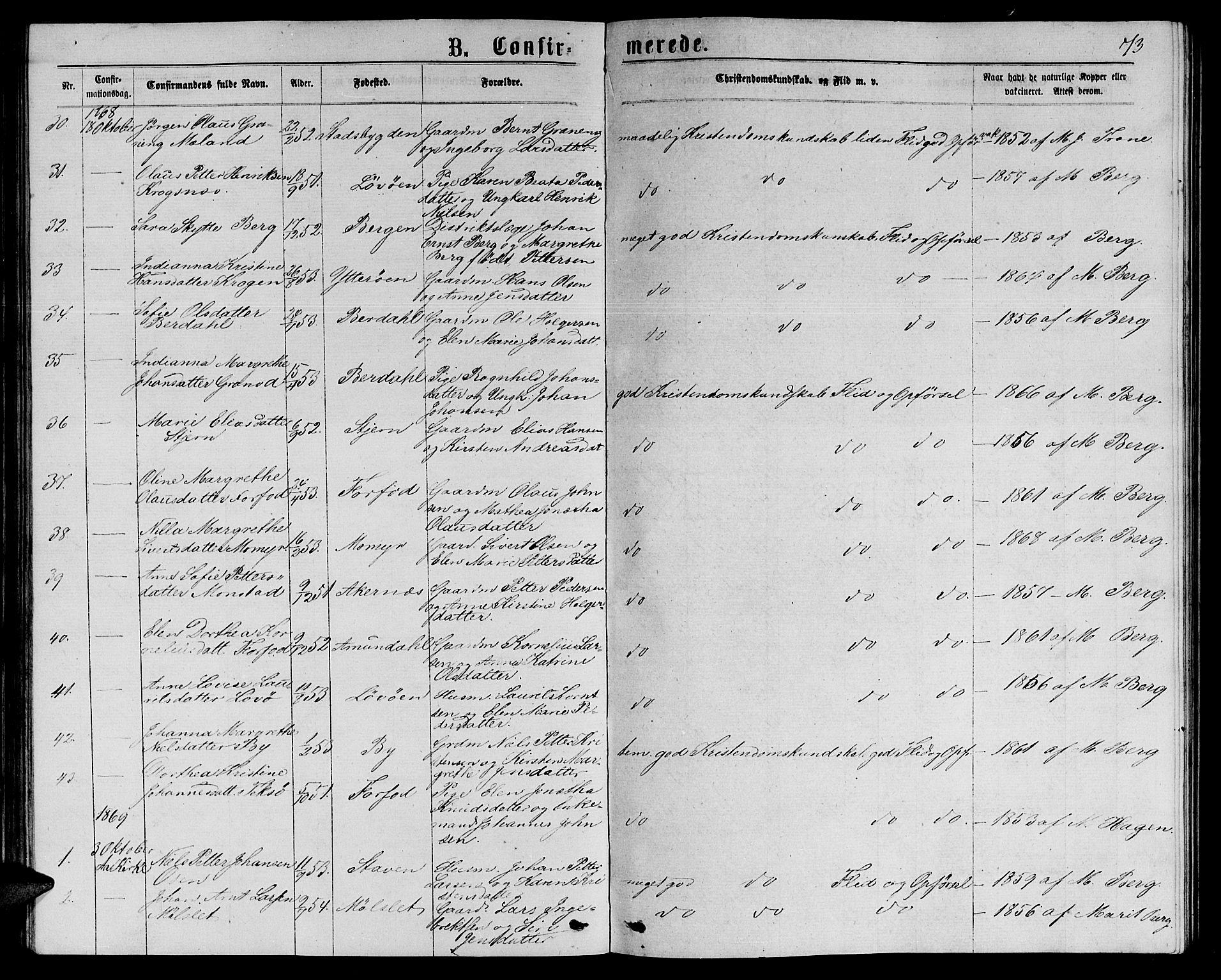SAT, Ministerialprotokoller, klokkerbøker og fødselsregistre - Sør-Trøndelag, 655/L0686: Klokkerbok nr. 655C02, 1866-1879, s. 73