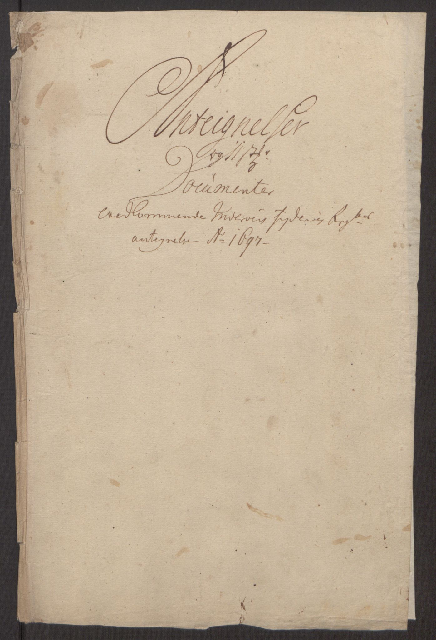 RA, Rentekammeret inntil 1814, Reviderte regnskaper, Fogderegnskap, R63/L4309: Fogderegnskap Inderøy, 1695-1697, s. 589