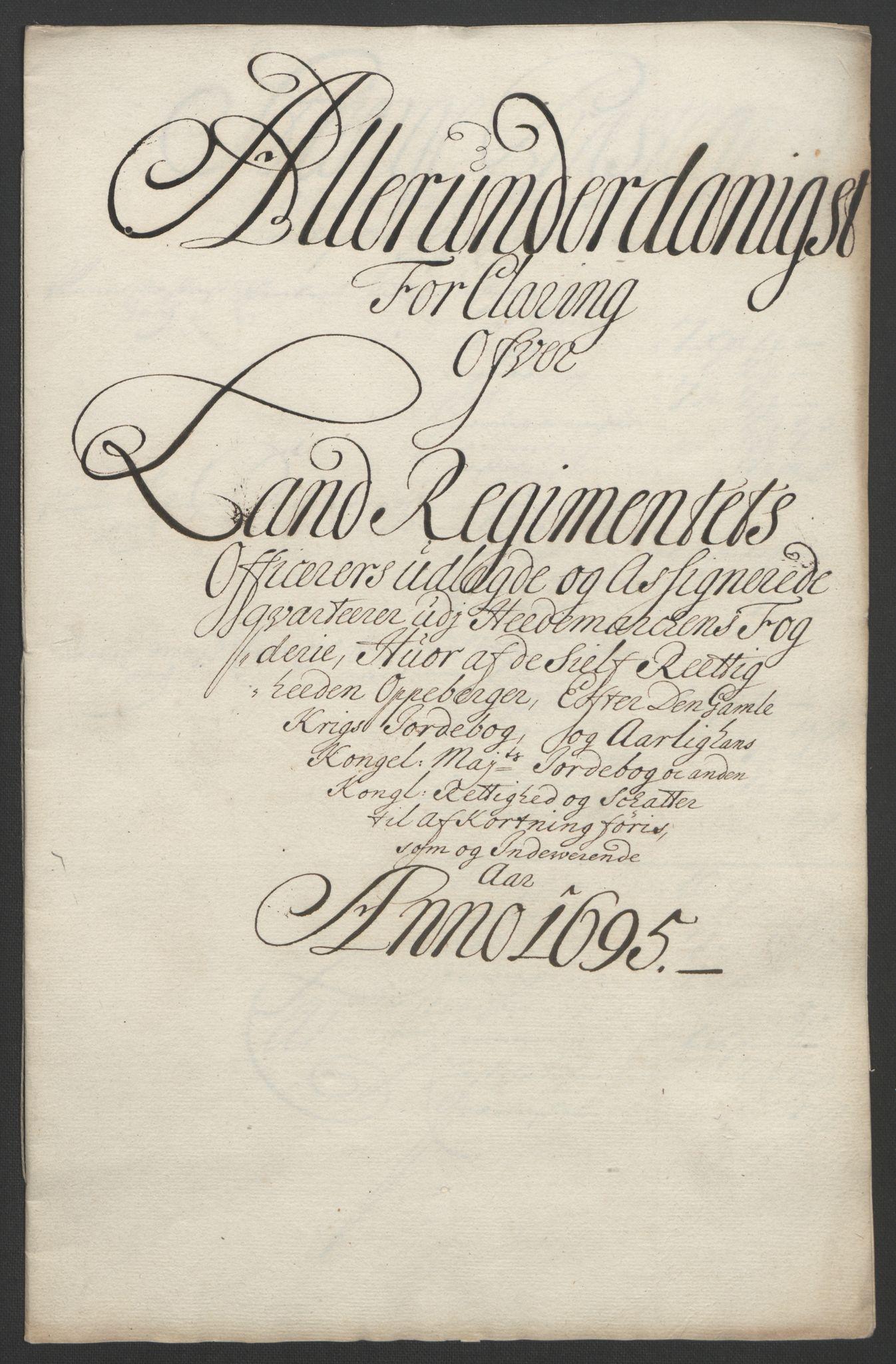 RA, Rentekammeret inntil 1814, Reviderte regnskaper, Fogderegnskap, R16/L1036: Fogderegnskap Hedmark, 1695-1696, s. 142