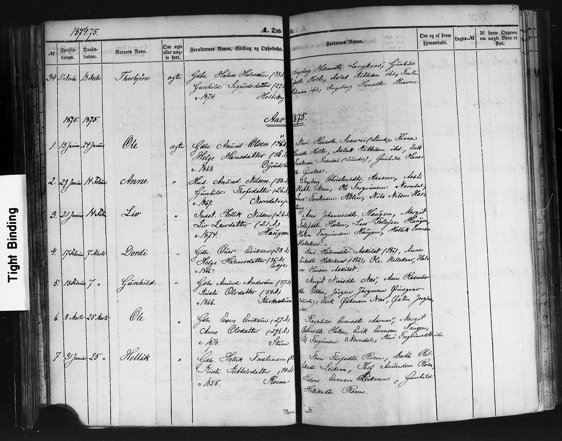 SAKO, Sauherad kirkebøker, F/Fb/L0001: Ministerialbok nr. II 1, 1851-1877, s. 71