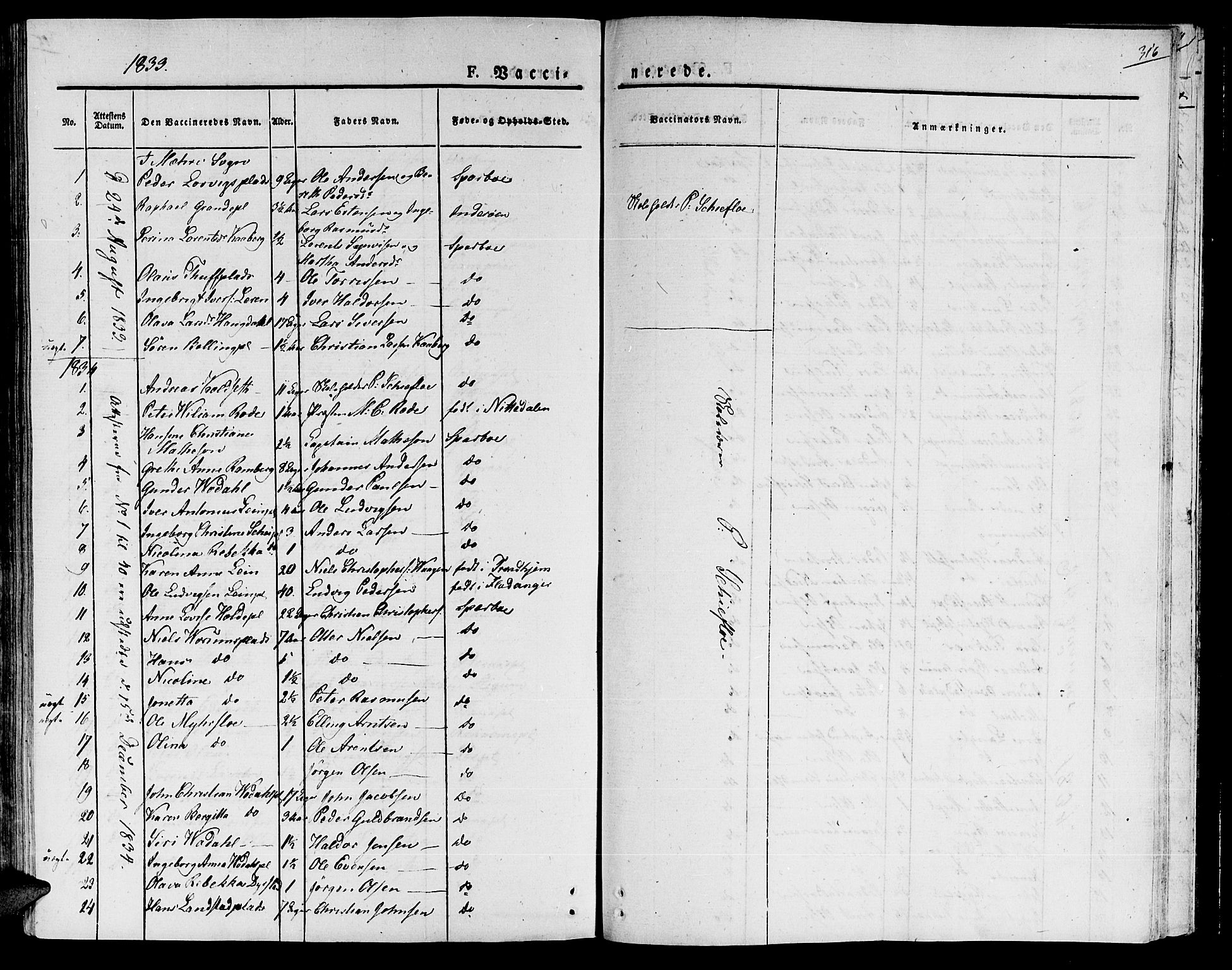 SAT, Ministerialprotokoller, klokkerbøker og fødselsregistre - Nord-Trøndelag, 735/L0336: Ministerialbok nr. 735A05 /1, 1825-1835, s. 316