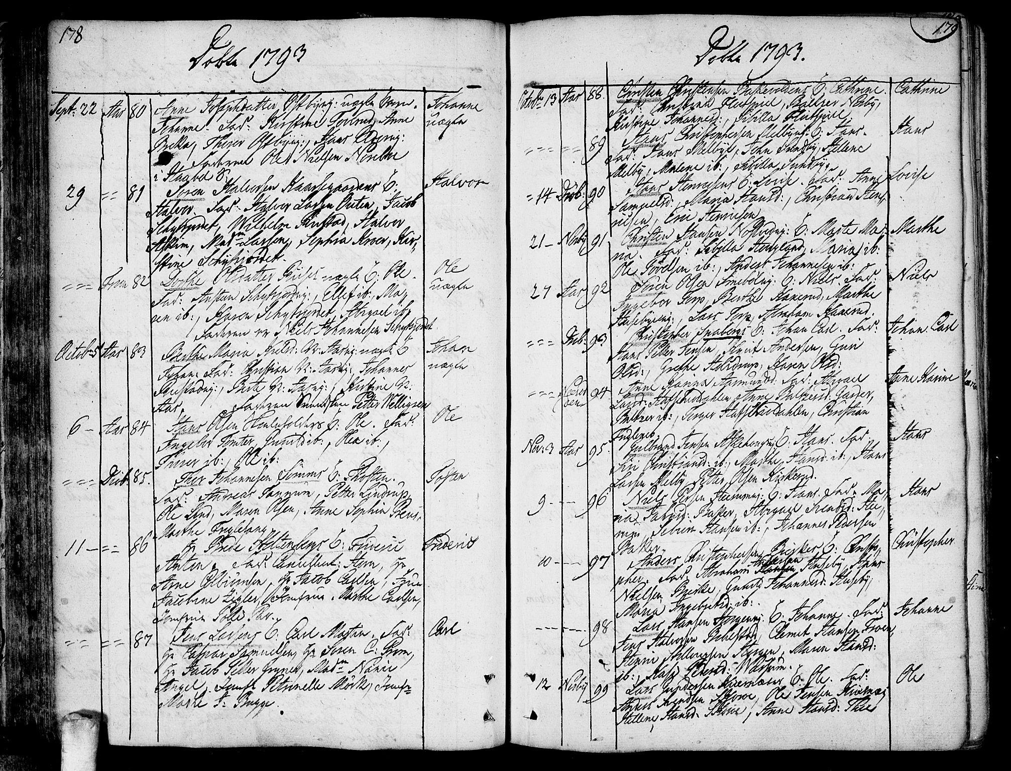 SAO, Ås prestekontor Kirkebøker, F/Fa/L0002: Ministerialbok nr. I 2, 1778-1813, s. 178-179