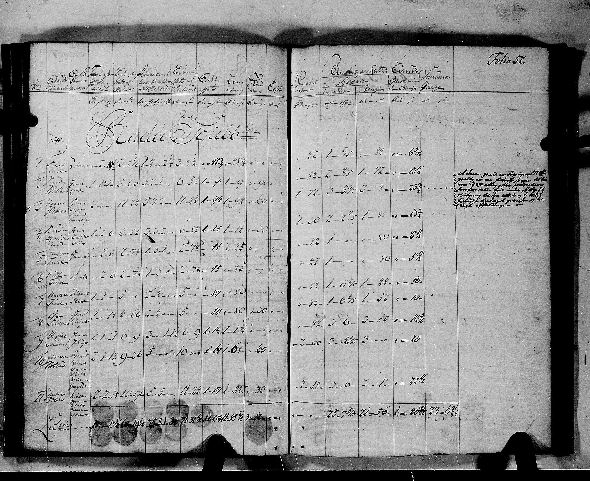 RA, Rentekammeret inntil 1814, Realistisk ordnet avdeling, N/Nb/Nbf/L0140: Nordhordland matrikkelprotokoll, 1723, s. 51b-52a