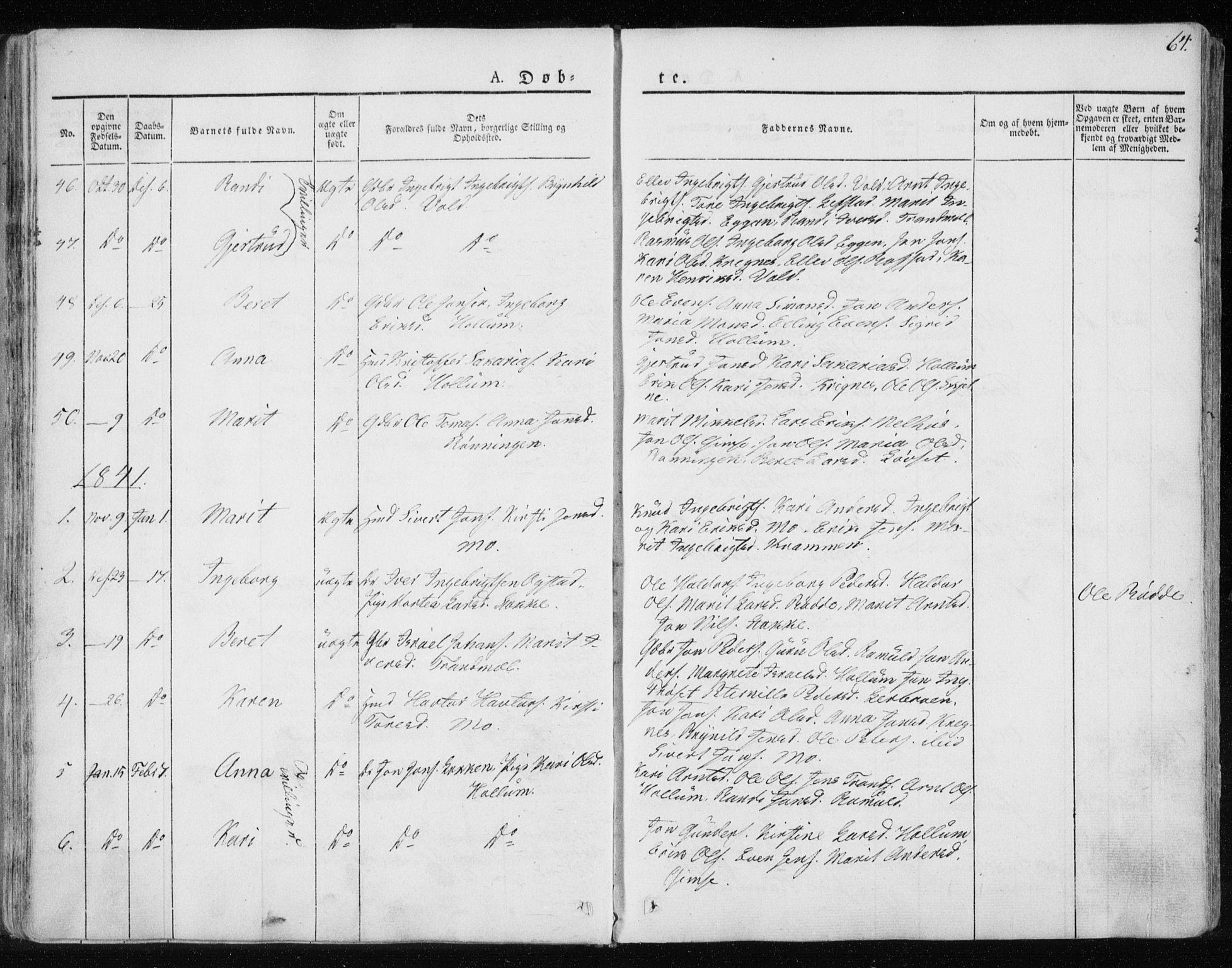 SAT, Ministerialprotokoller, klokkerbøker og fødselsregistre - Sør-Trøndelag, 691/L1069: Ministerialbok nr. 691A04, 1826-1841, s. 64