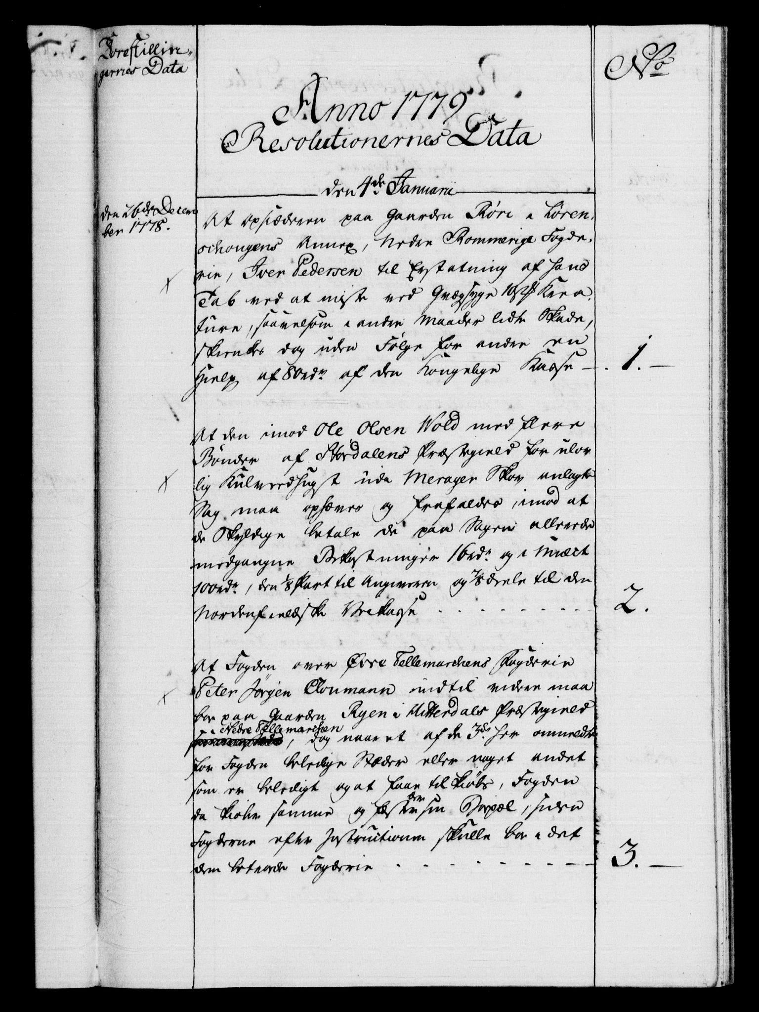 RA, Rentekammeret, Kammerkanselliet, G/Gf/Gfb/L0009: Register til norske relasjons- og resolusjonsprotokoller (merket RK 52.104), 1773-1780, s. 146