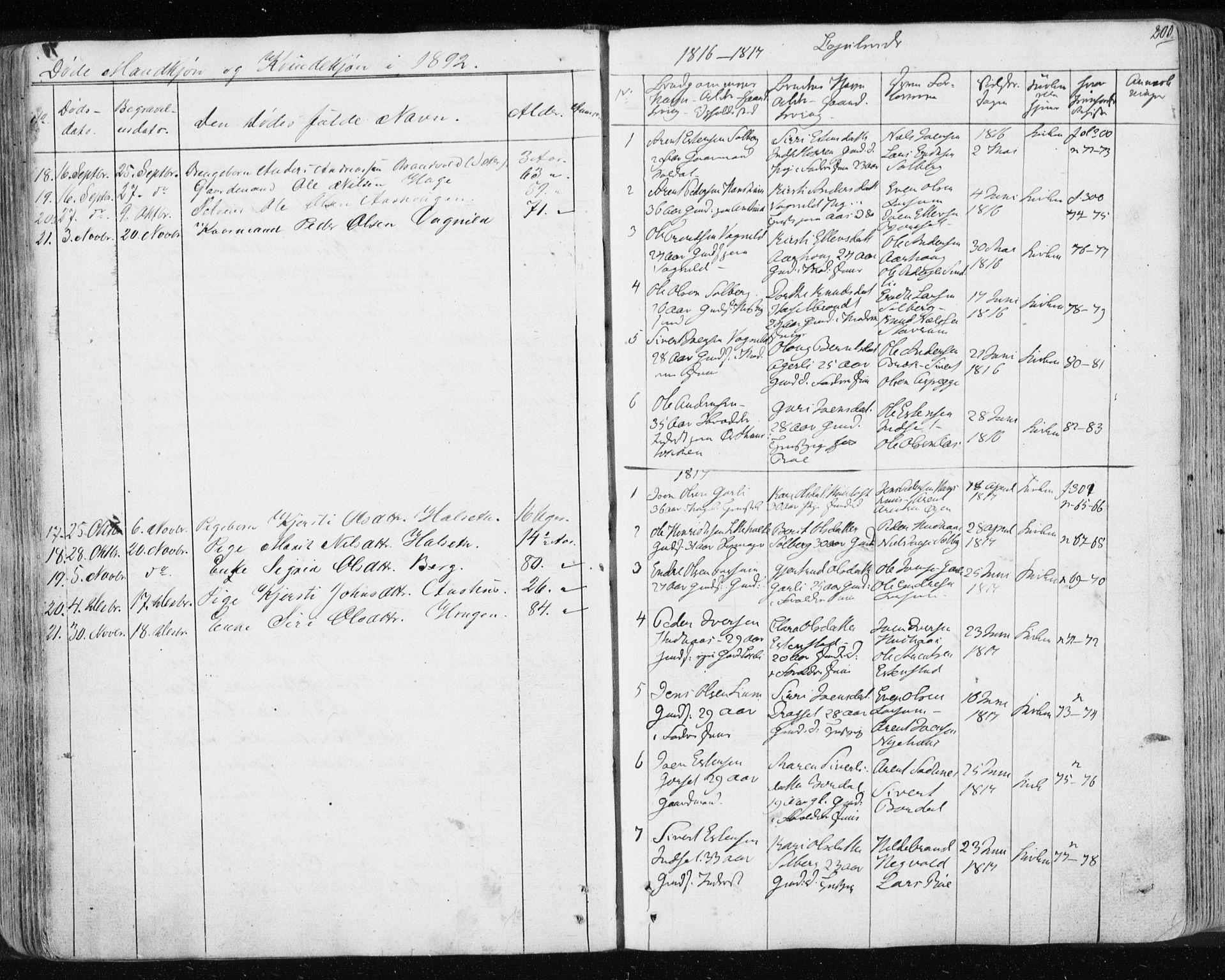 SAT, Ministerialprotokoller, klokkerbøker og fødselsregistre - Sør-Trøndelag, 689/L1043: Klokkerbok nr. 689C02, 1816-1892, s. 200
