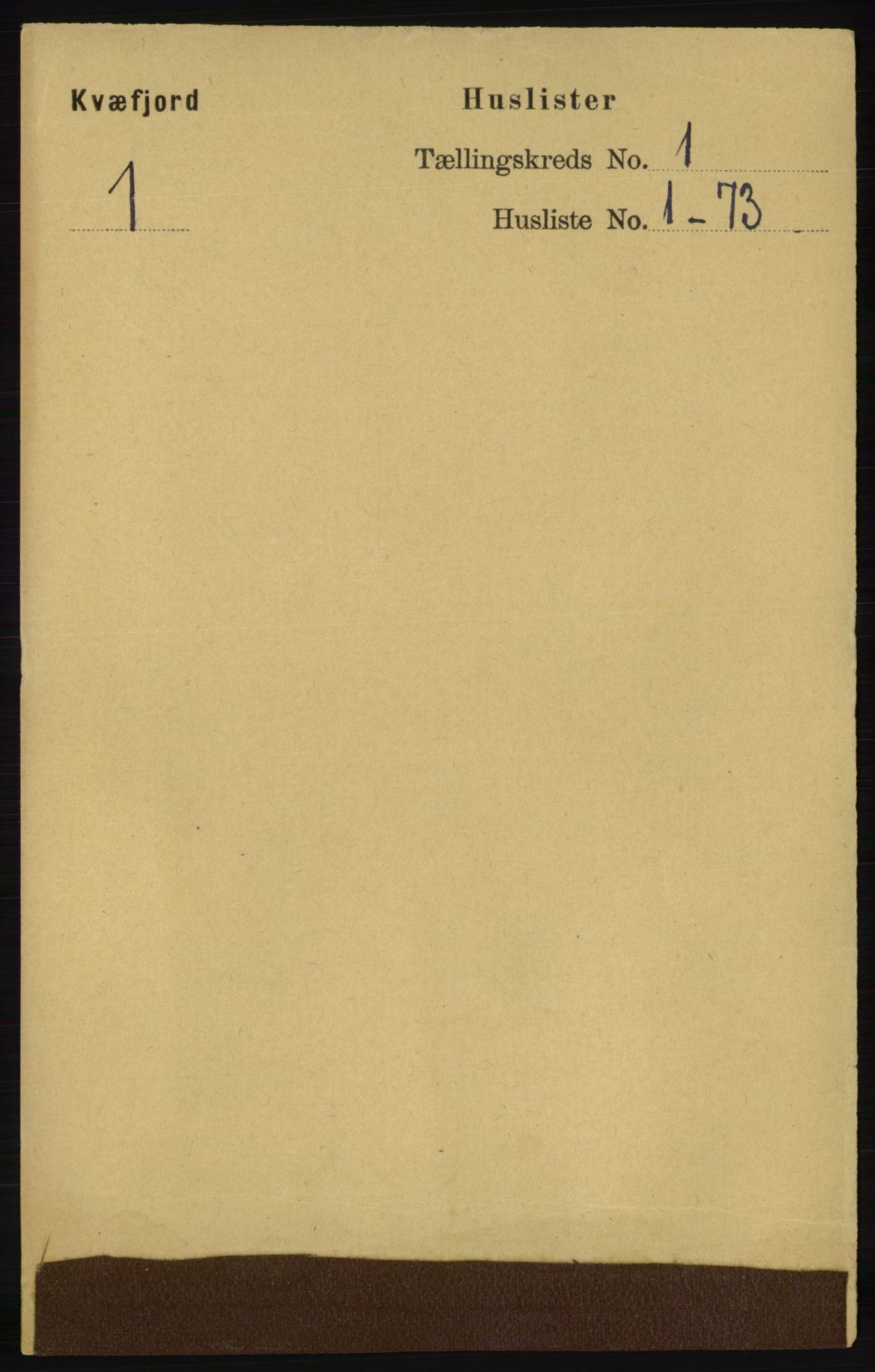 RA, Folketelling 1891 for 1911 Kvæfjord herred, 1891, s. 20