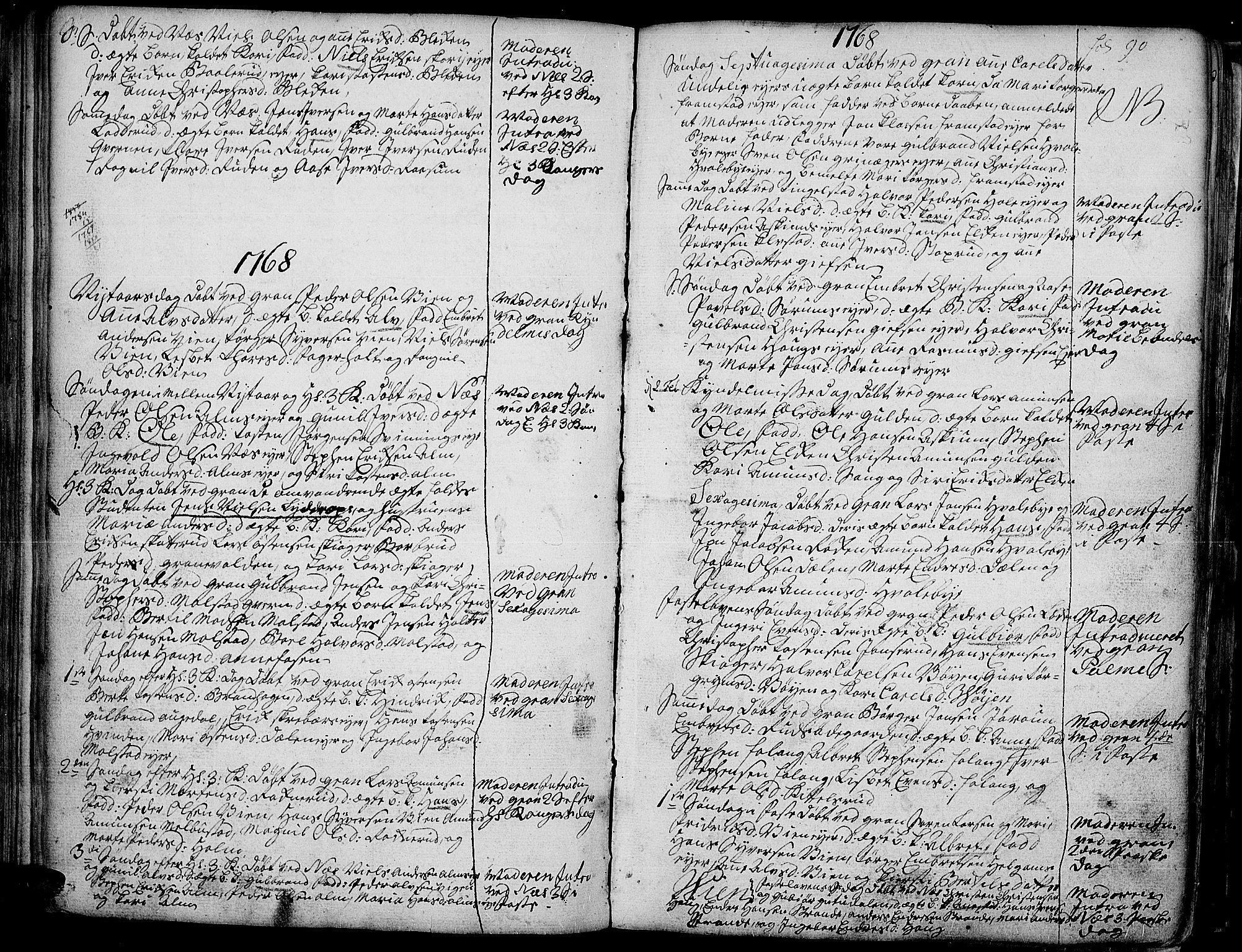 SAH, Gran prestekontor, Ministerialbok nr. 4, 1759-1775, s. 90