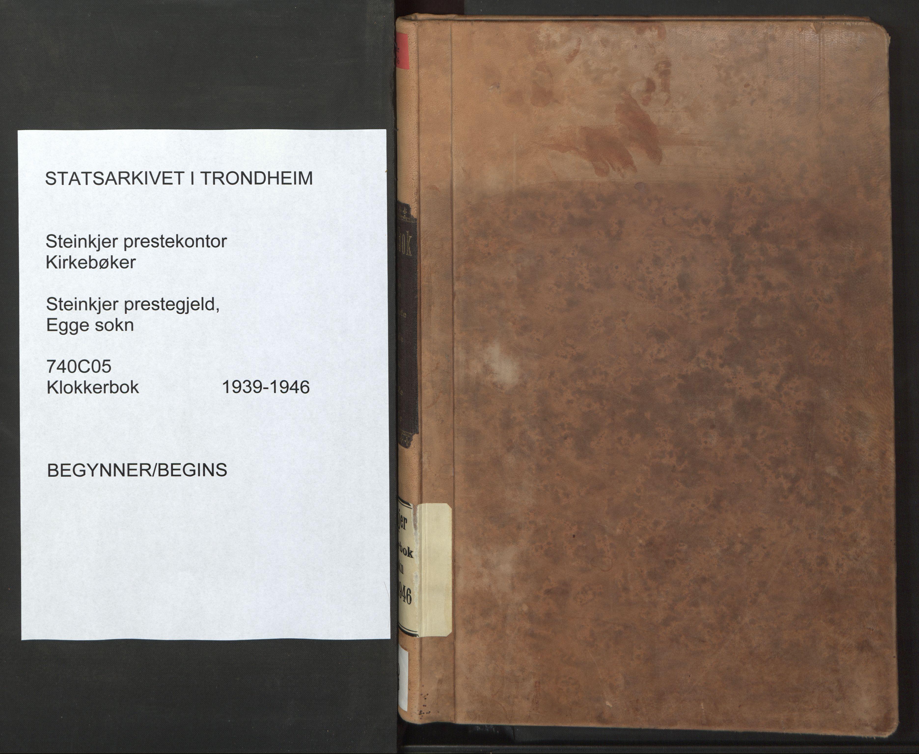 SAT, Ministerialprotokoller, klokkerbøker og fødselsregistre - Nord-Trøndelag, 740/L0384: Klokkerbok nr. 740C05, 1939-1946
