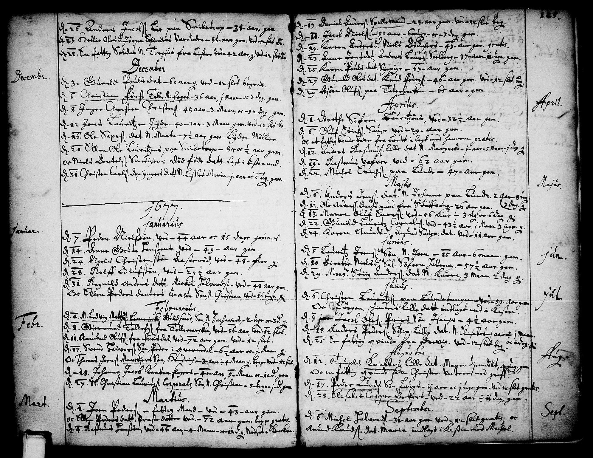 SAKO, Skien kirkebøker, F/Fa/L0001: Ministerialbok nr. 1, 1659-1679, s. 125
