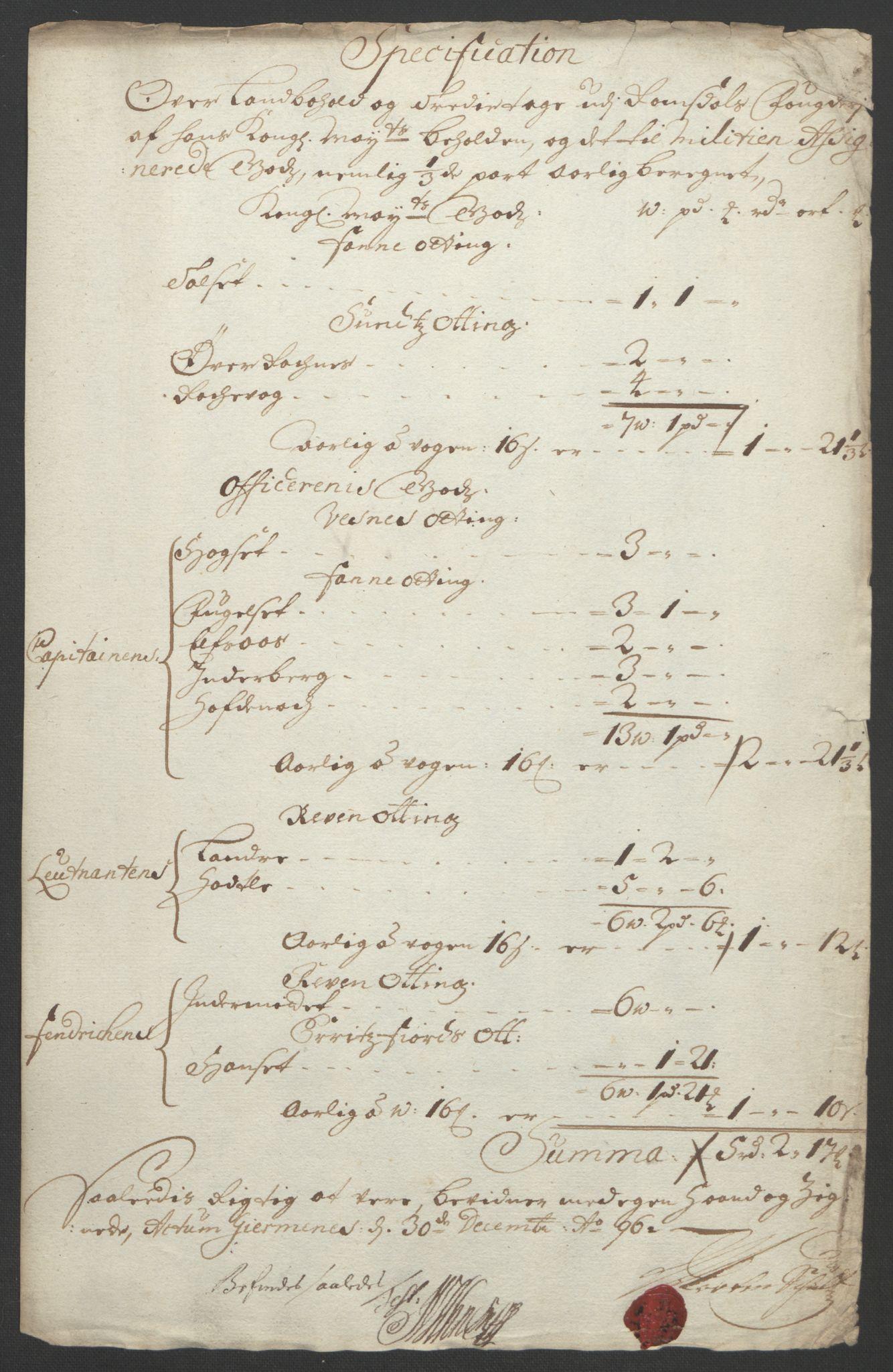 RA, Rentekammeret inntil 1814, Reviderte regnskaper, Fogderegnskap, R55/L3652: Fogderegnskap Romsdal, 1695-1696, s. 278